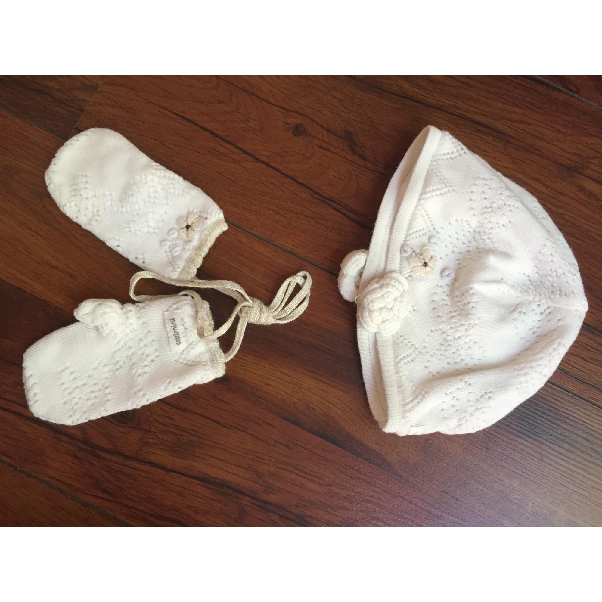 Bonnet CATIMINI Blanc, blanc cassé, écru