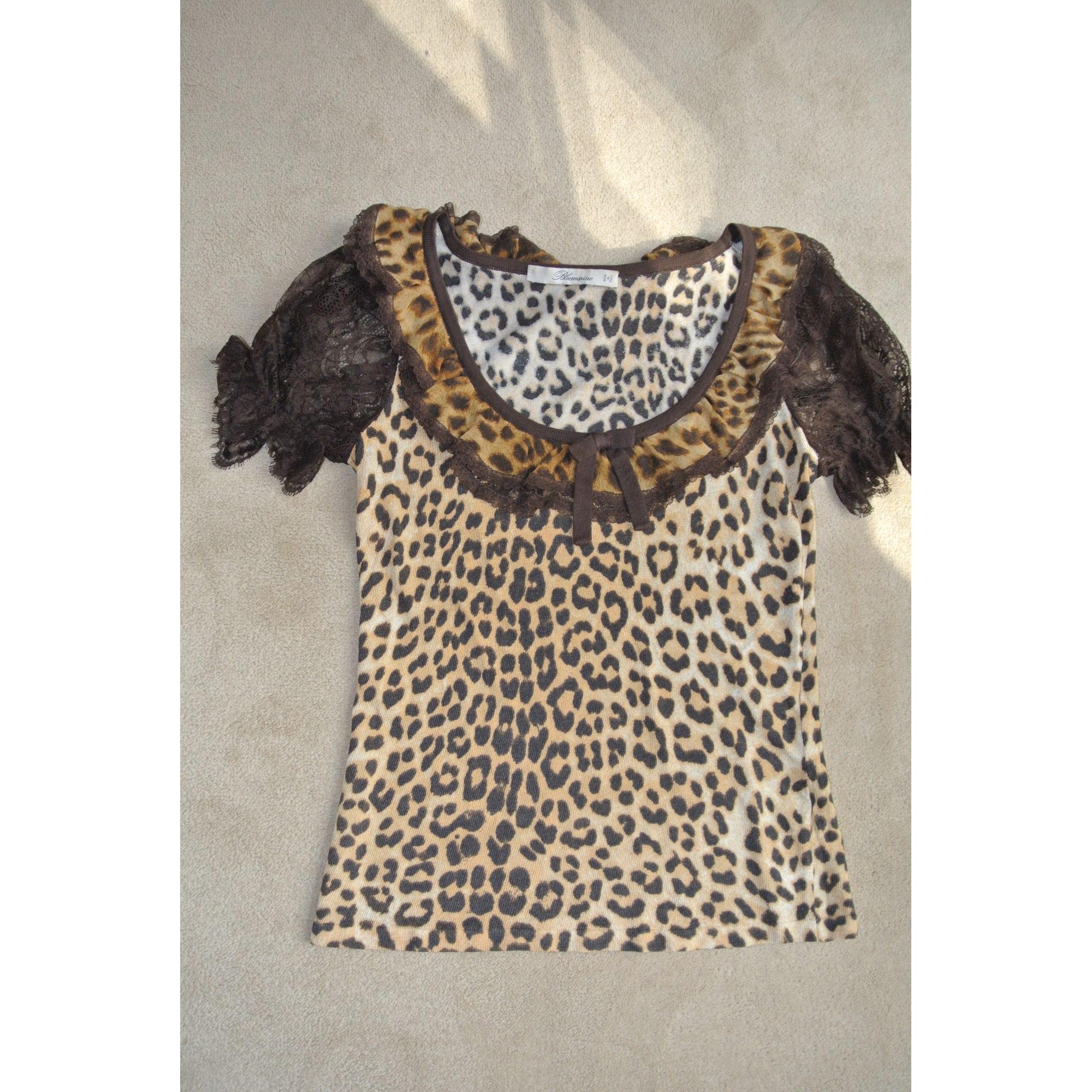 Top, tee-shirt TOP LEOPARD BLUMARINE Imprimés animaliers