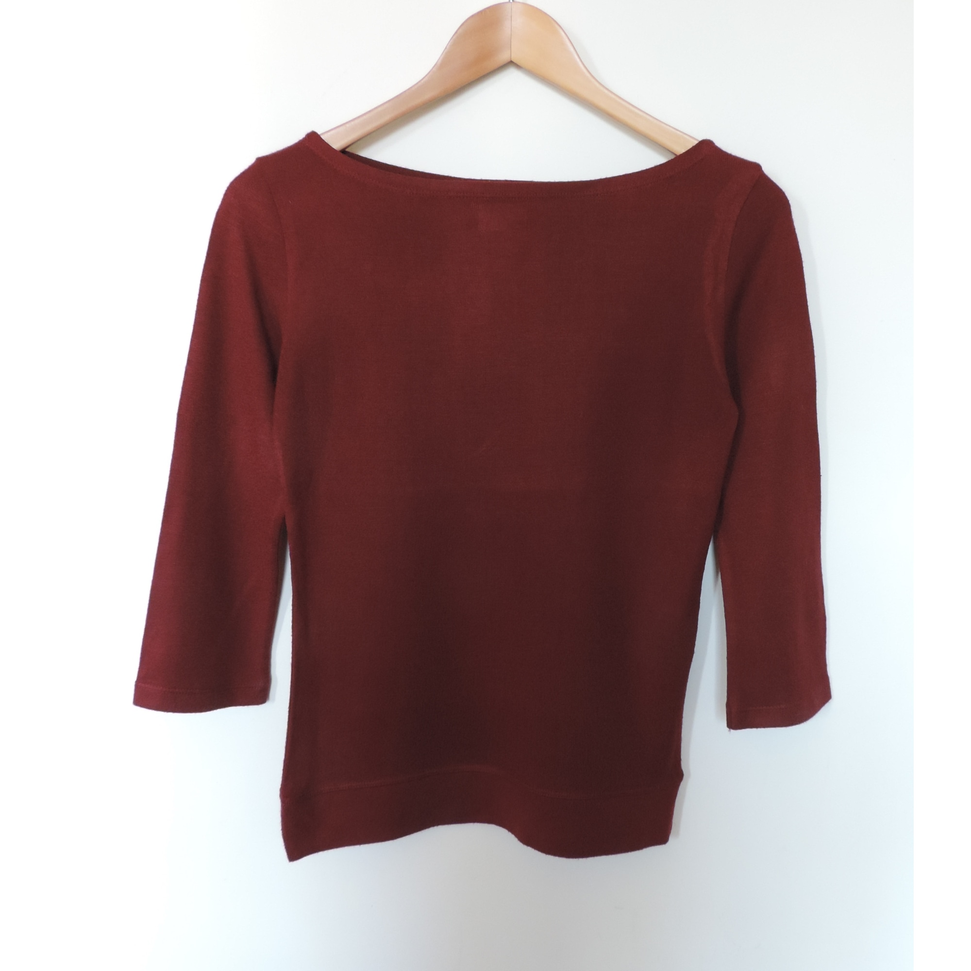 Top, tee-shirt ZARA Rouge, bordeaux