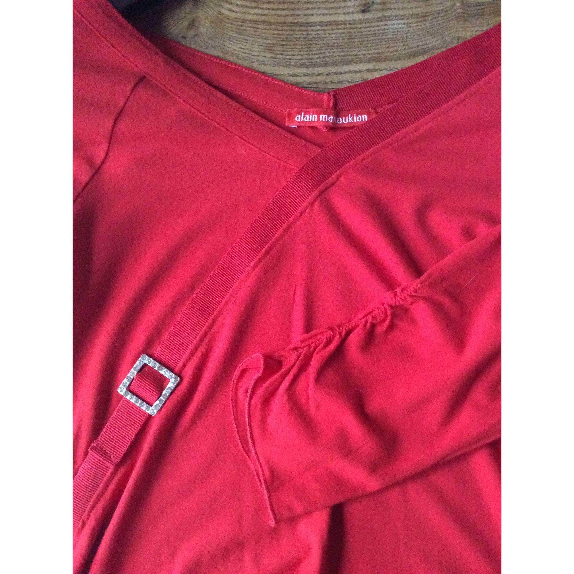 Top, tee-shirt ALAIN MANOUKIAN Rouge, bordeaux