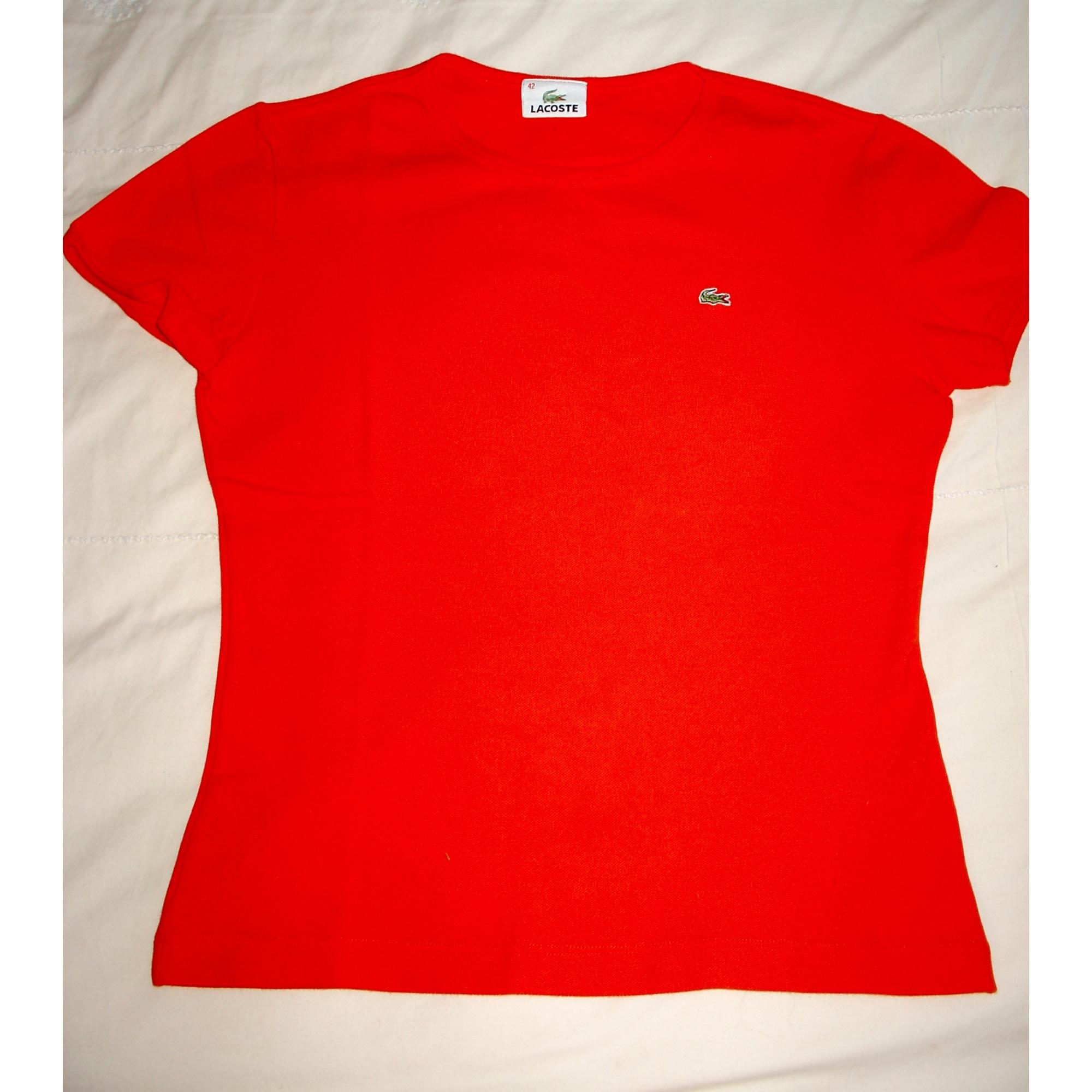 Top, tee-shirt LACOSTE Rouge, bordeaux