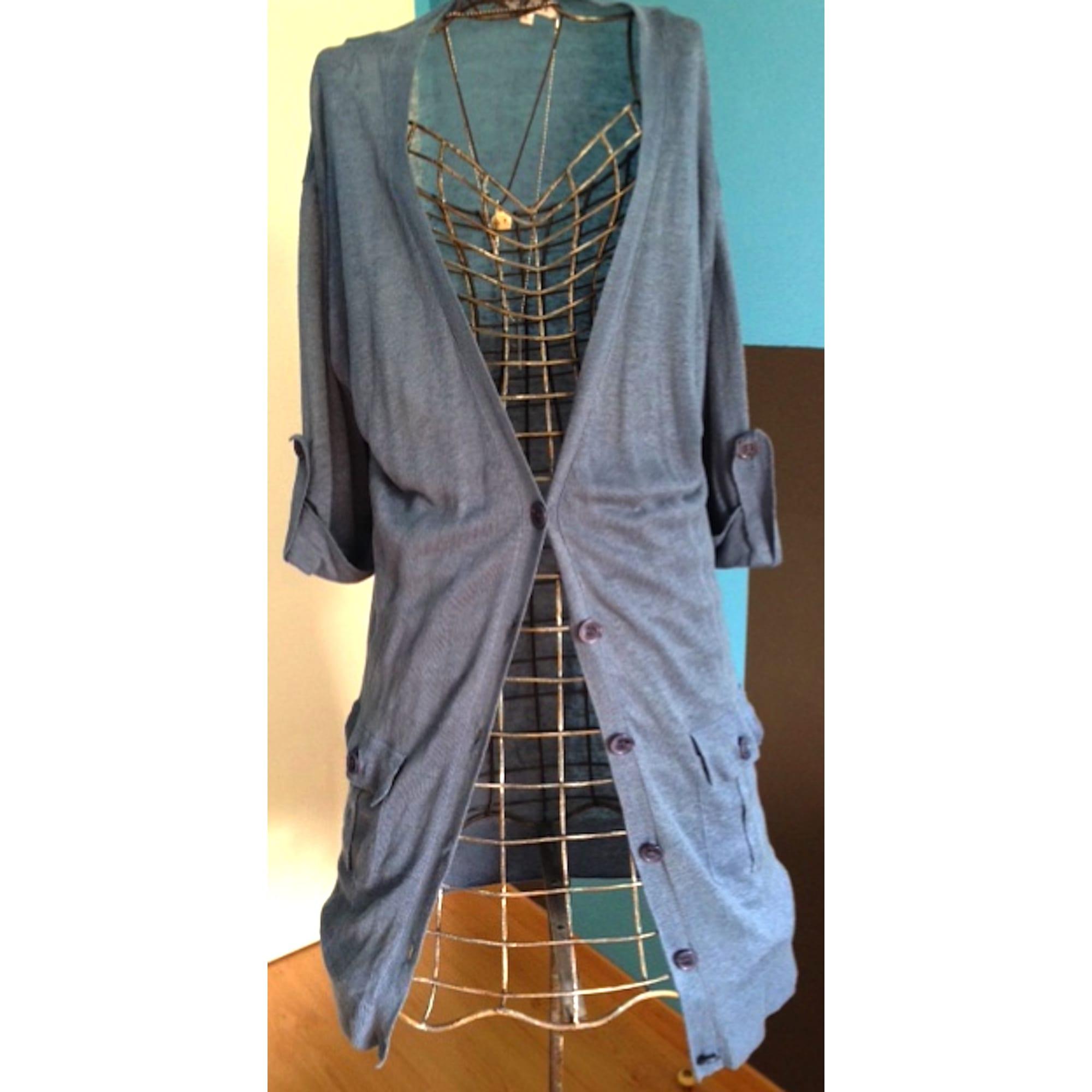 Gilet, cardigan WHY NOT Bleu, bleu marine, bleu turquoise