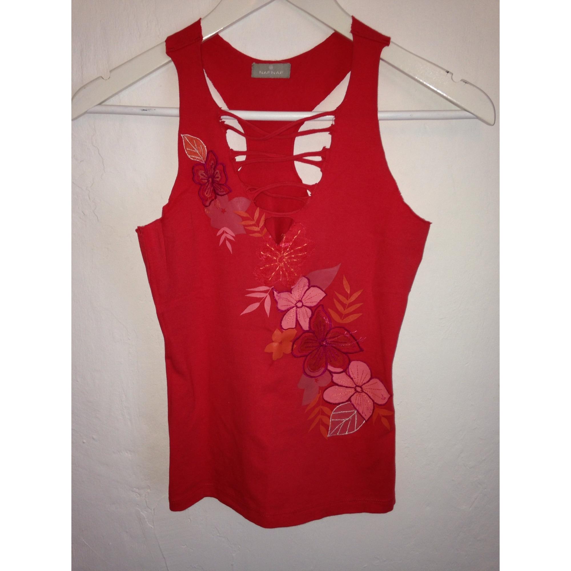 Top, tee-shirt NAF NAF Rose, fuschia, vieux rose