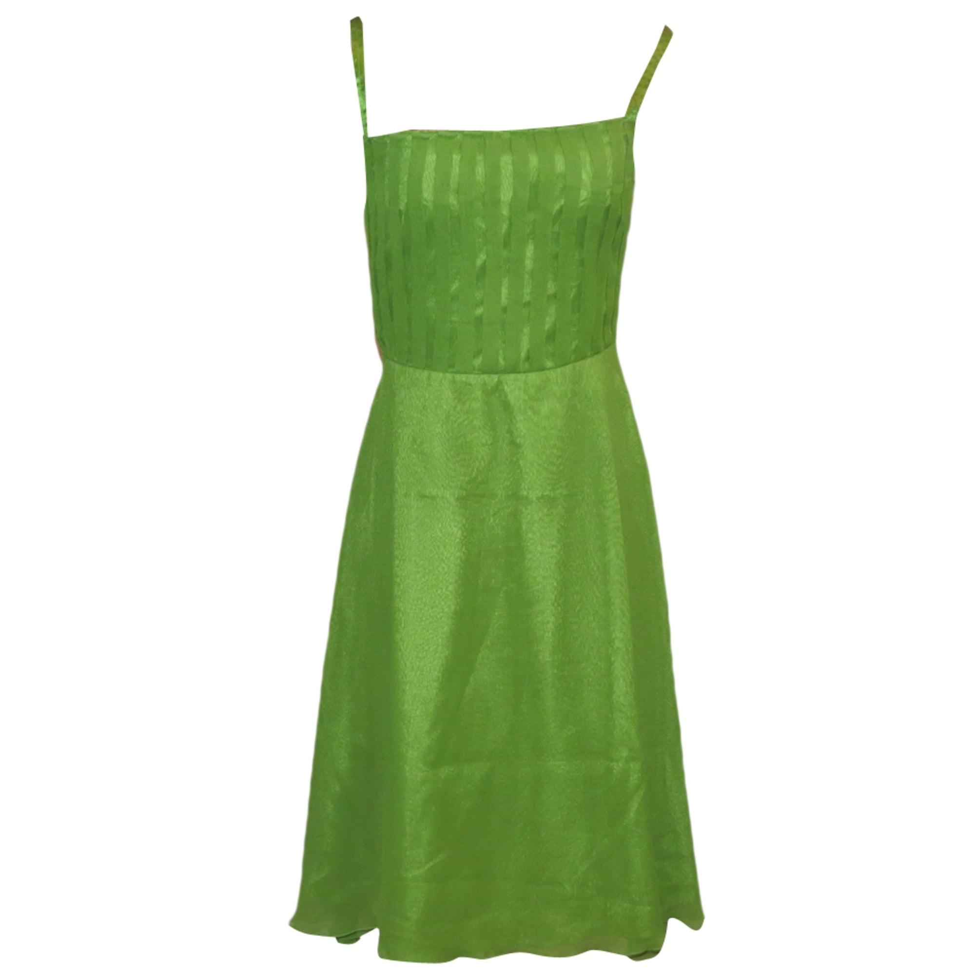 Robe mi-longue MANGO Vert