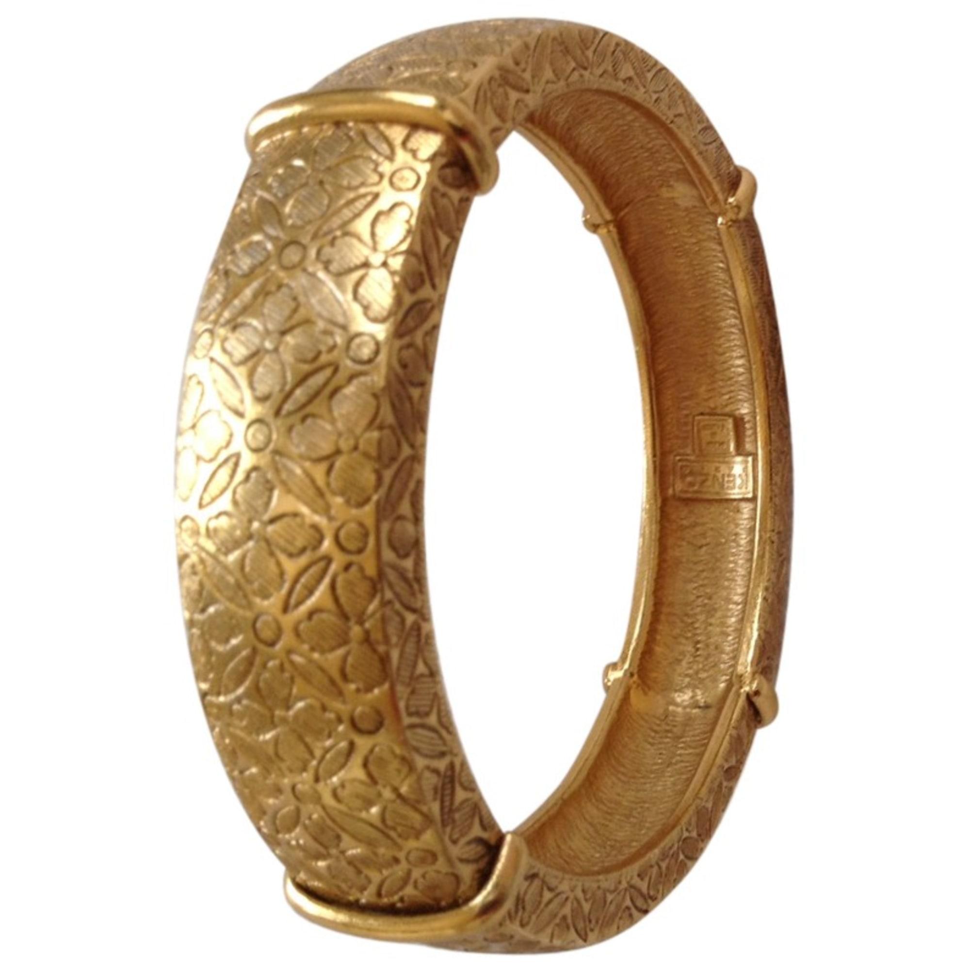 Bracelet KENZO Doré, bronze, cuivre