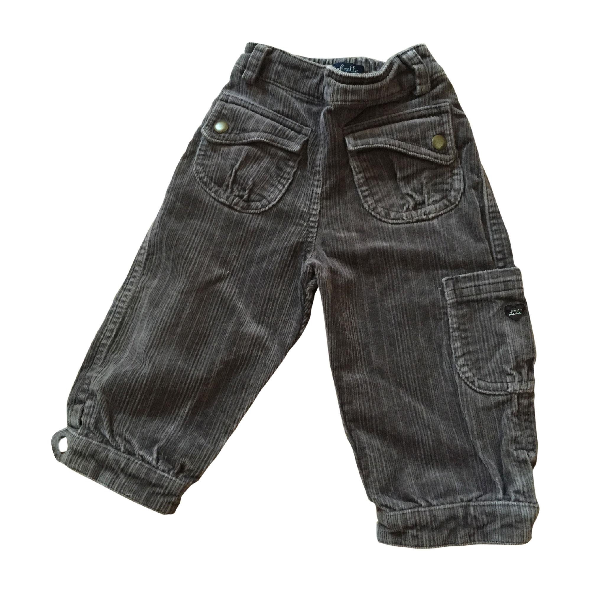 Pantalon LILI GAUFRETTE Gris, anthracite