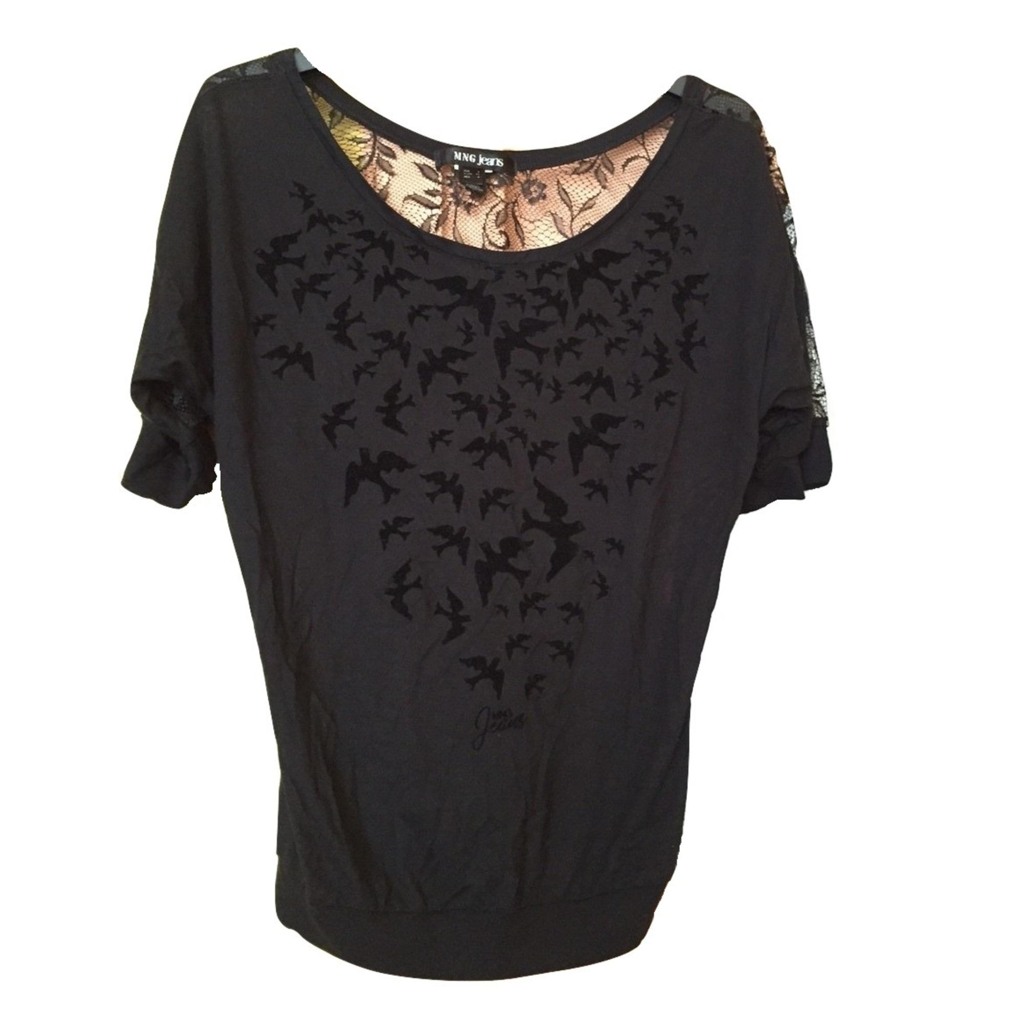 Top, tee-shirt MANGO Noir
