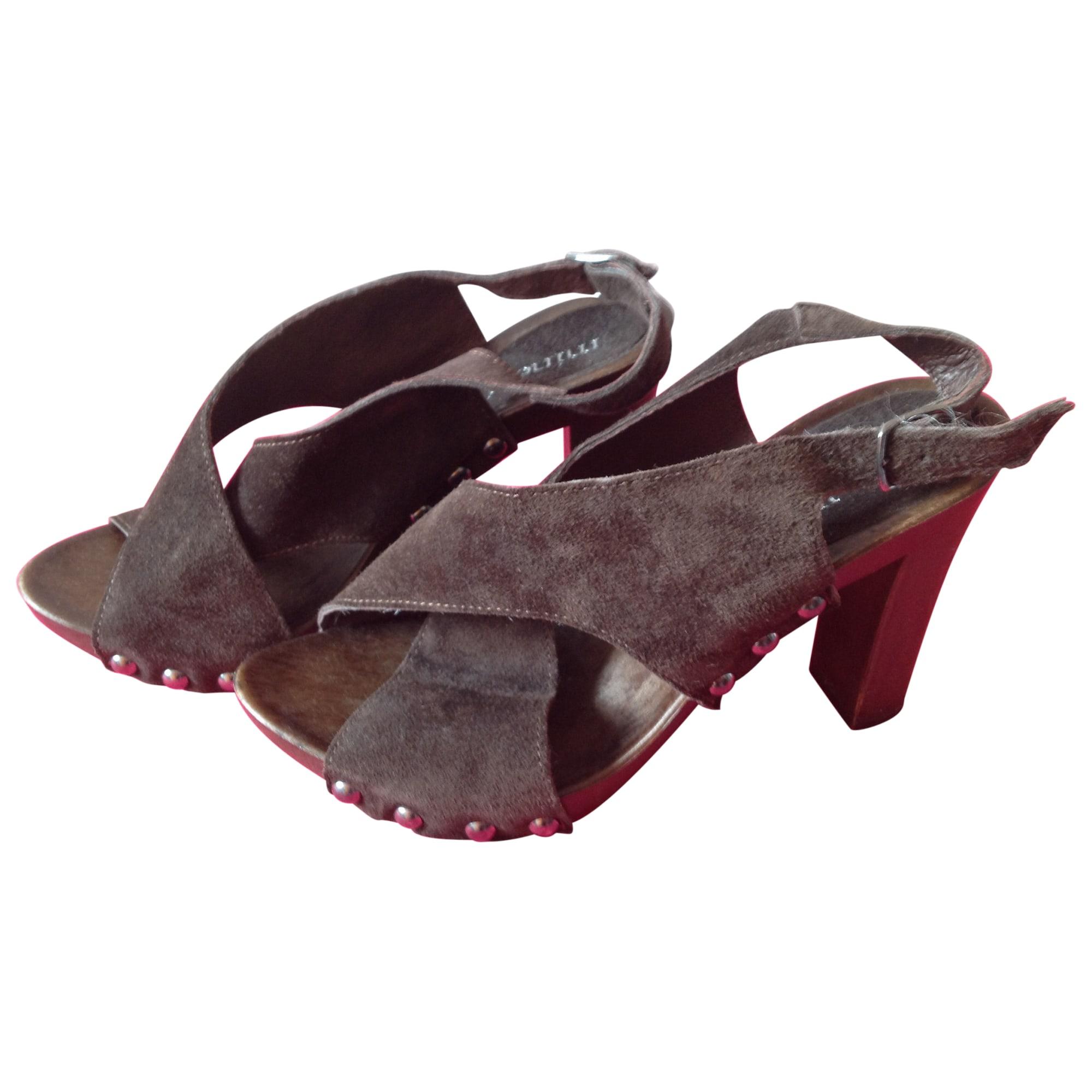 Sandales à talons MINELLI Marron