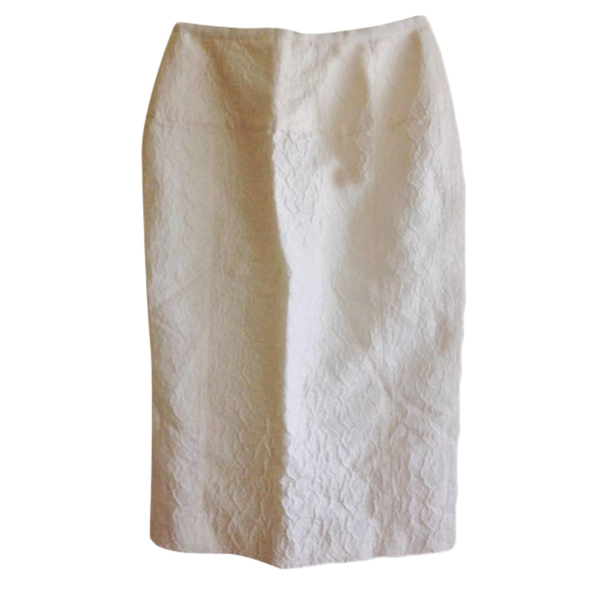 Jupe mi-longue NINA RICCI Blanc, blanc cassé, écru