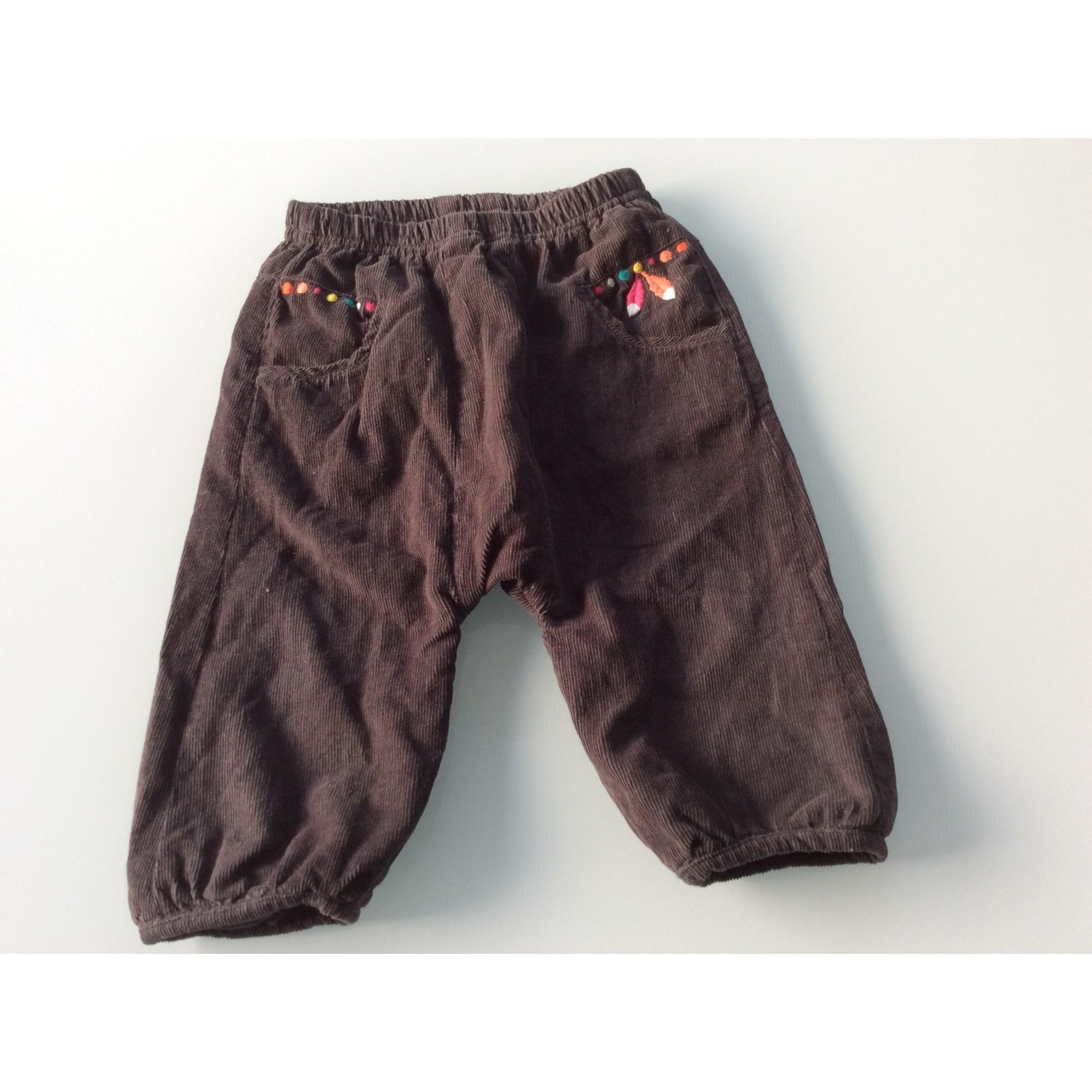 Pantalon DU PAREIL AU MÊME DPAM Marron