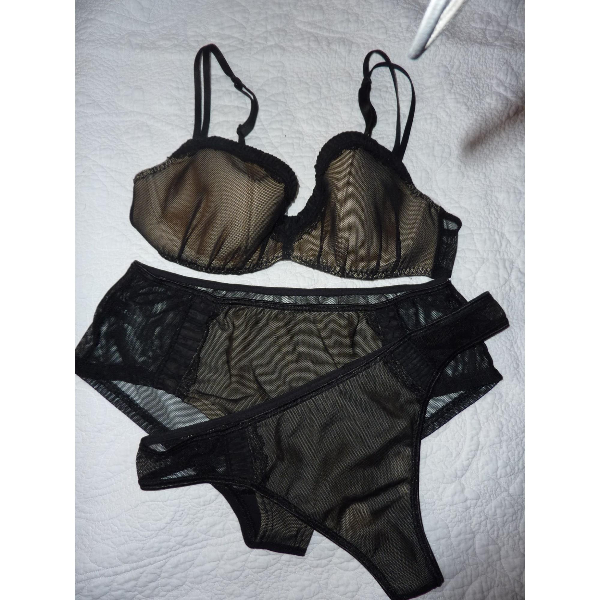 Ensemble, parure lingerie IMPLICITE Noir