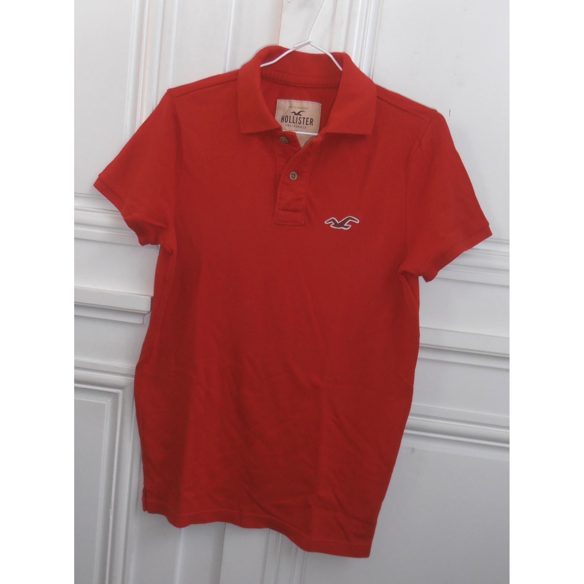 Polo HOLLISTER Rouge, bordeaux