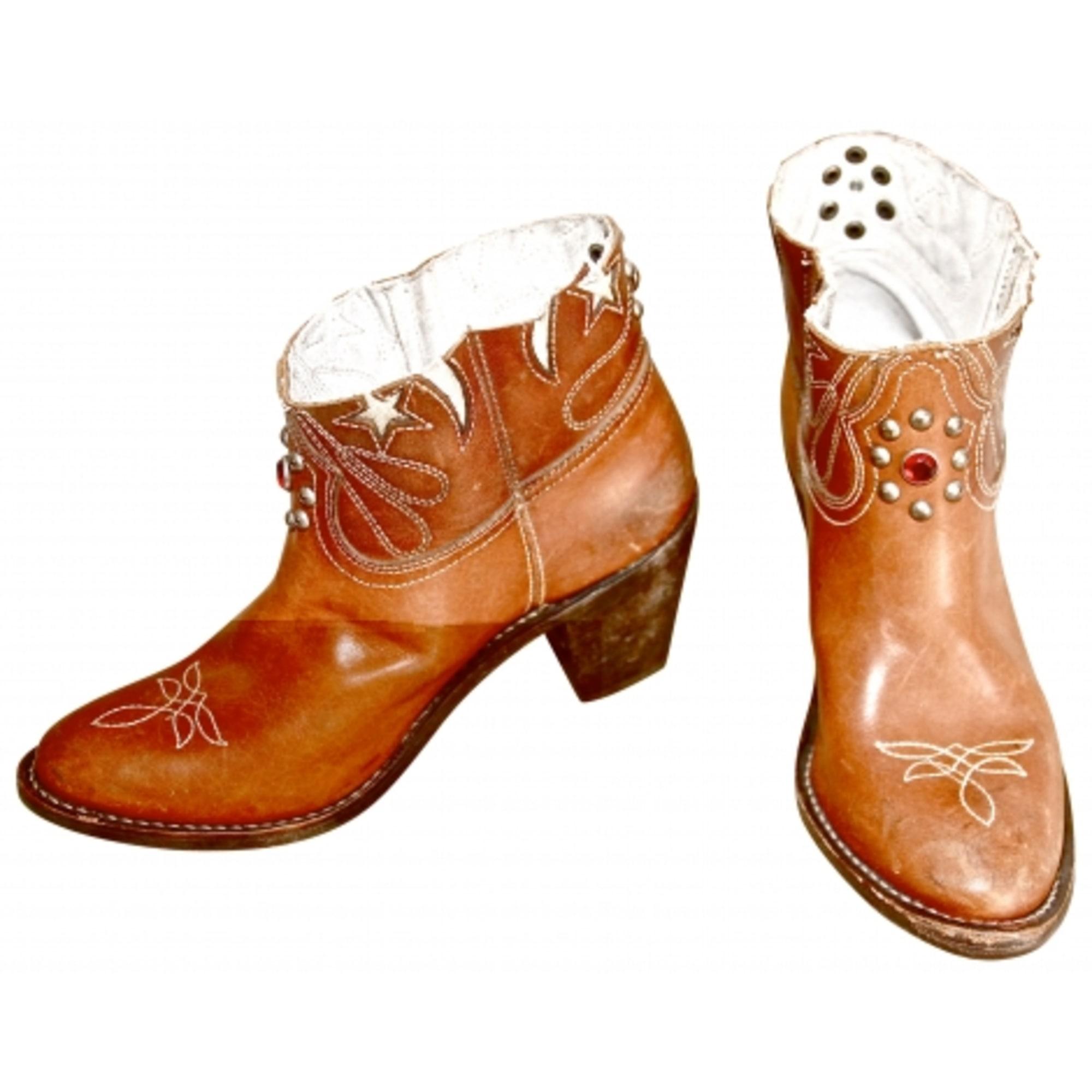 Santiags, bottines, low boots cowboy GOLDEN GOOSE Marron