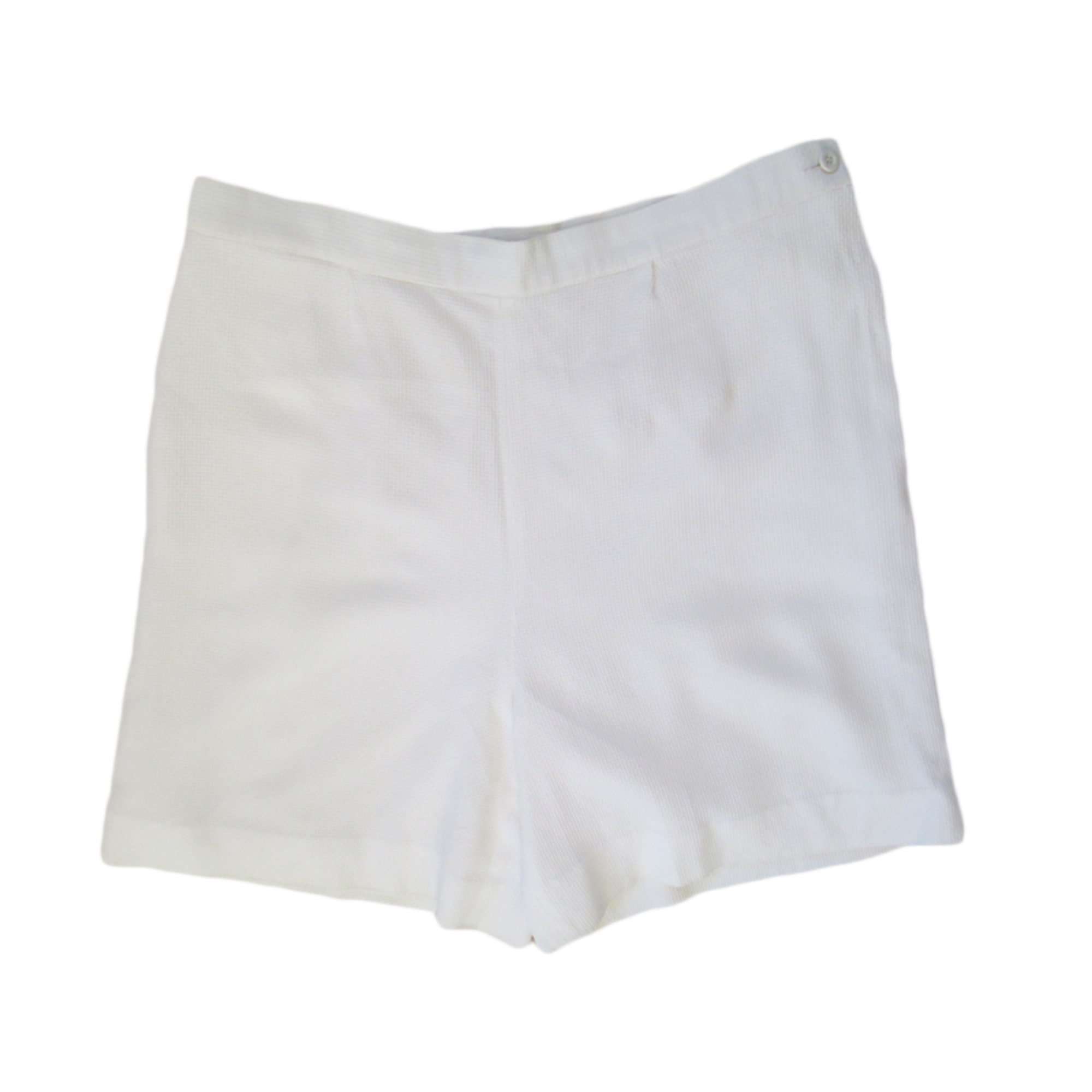 Short CHANEL Blanc, blanc cassé, écru