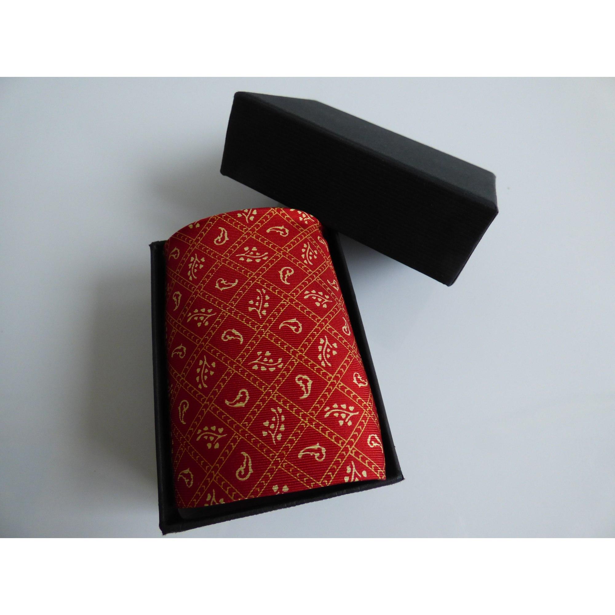 Cravate ROCHAS vermillon