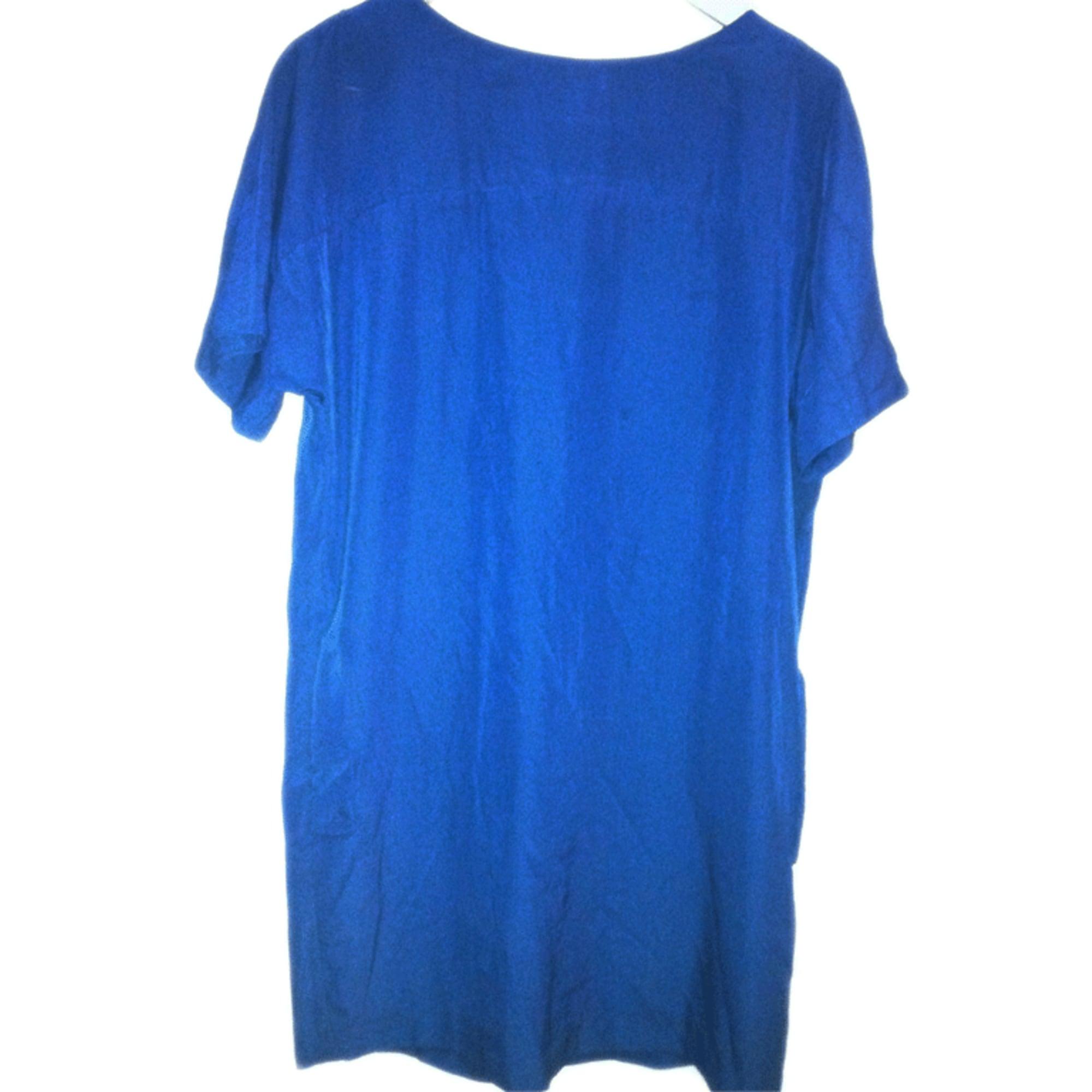 Robe tunique ZARA Bleu, bleu marine, bleu turquoise