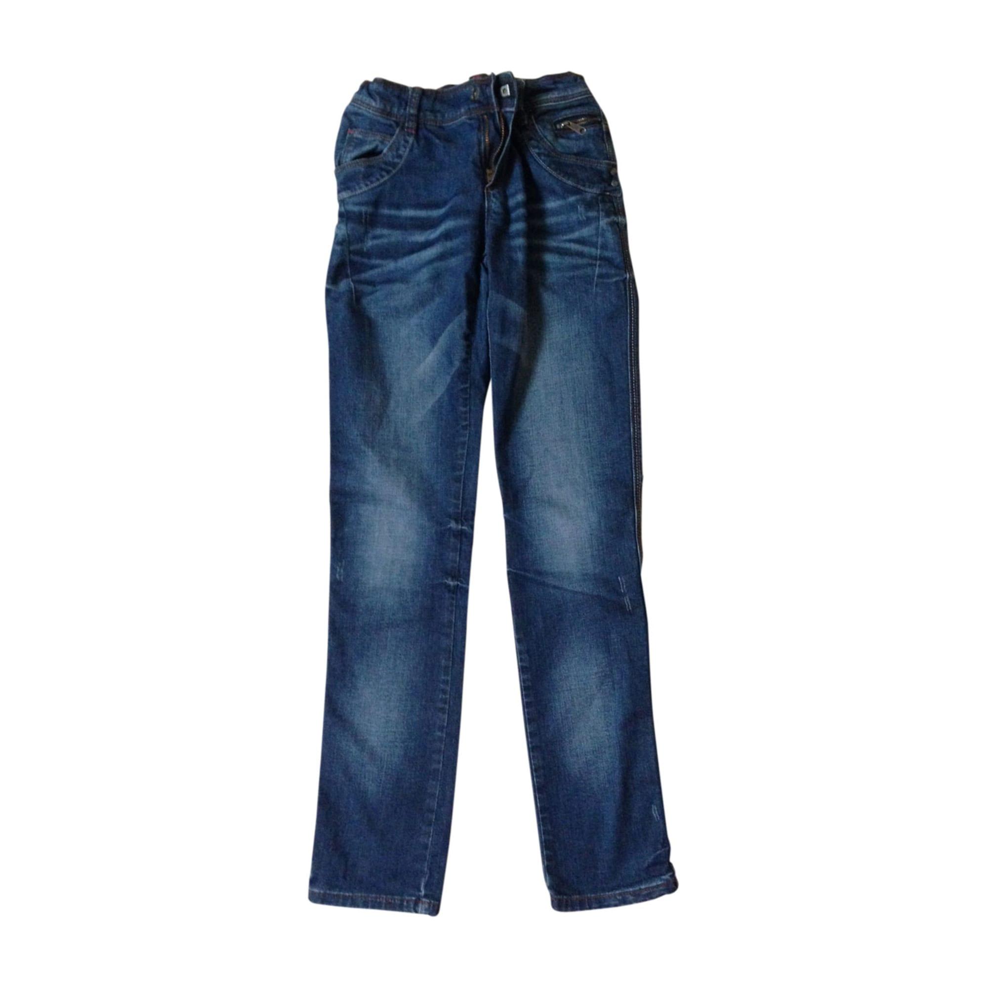 Jean slim  JEAN BOURGET Bleu, bleu marine, bleu turquoise