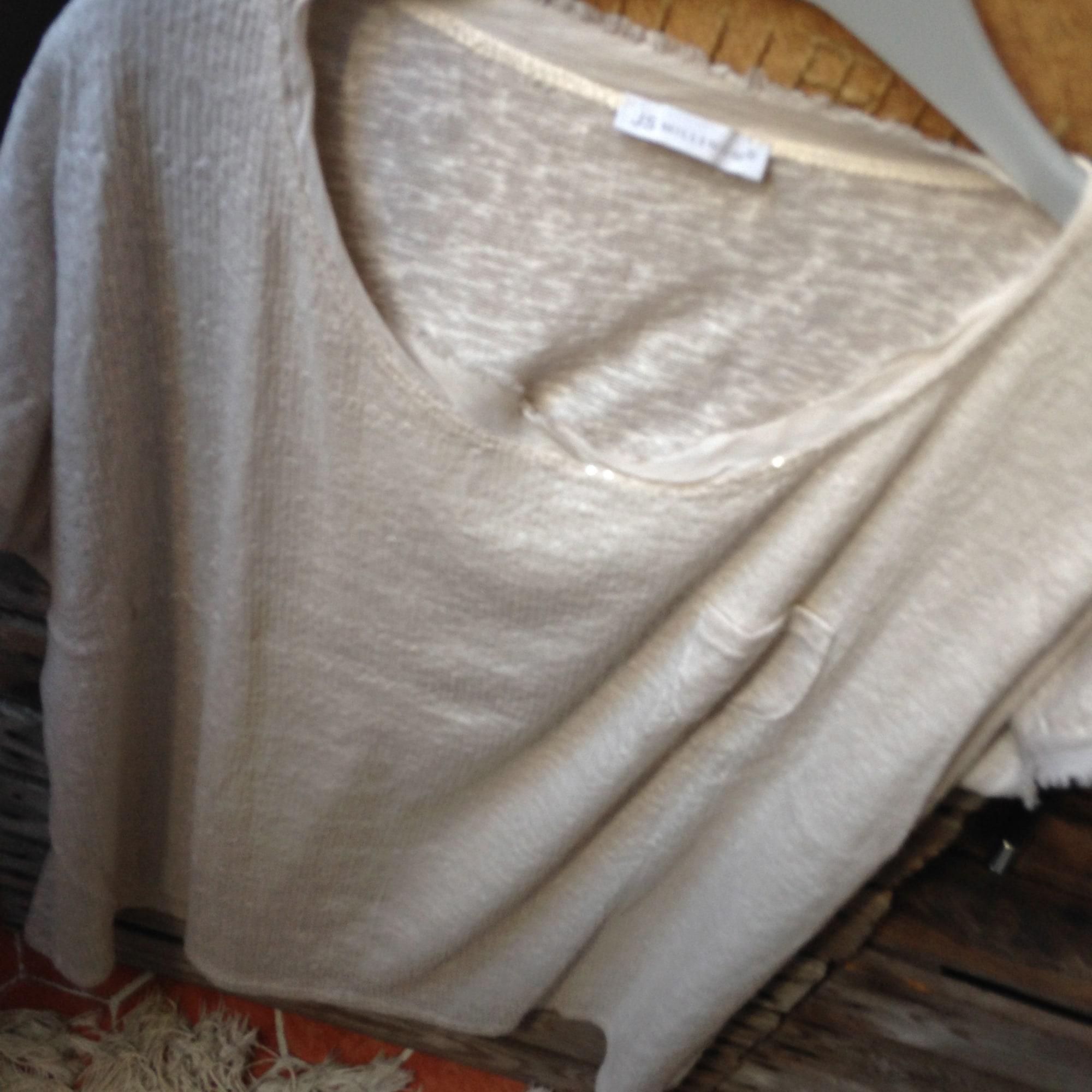 Top, tee-shirt JS MILLENIUM Blanc, blanc cassé, écru