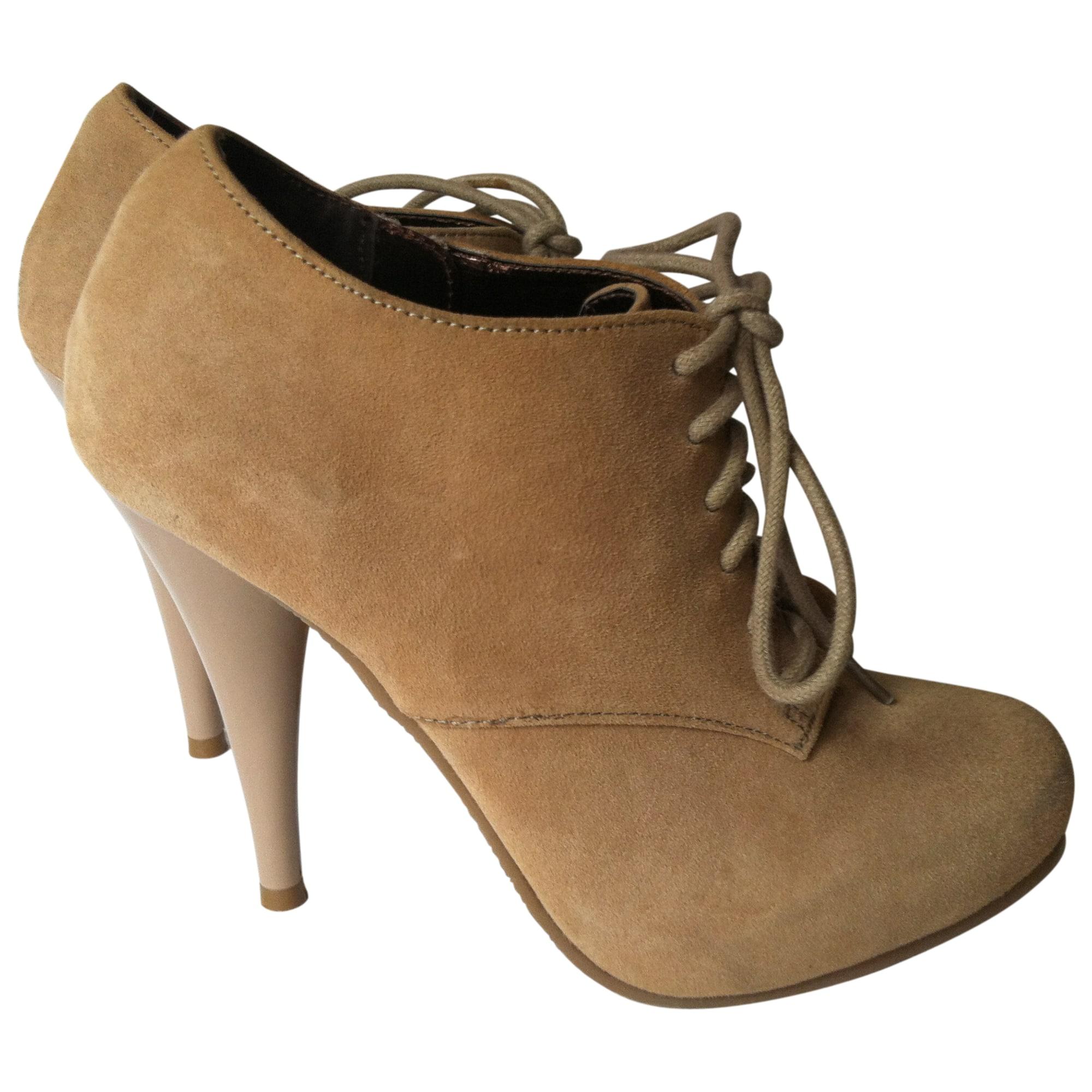 High Heel Ankle Boots STEVE MADDEN Beige, camel