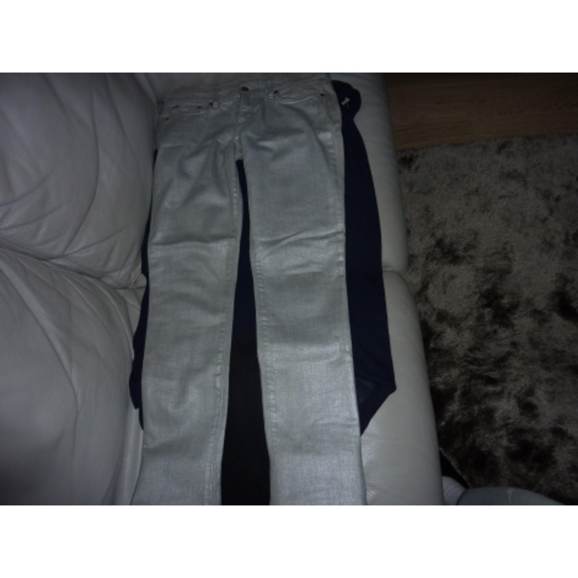 Pantalon slim, cigarette JOE'S JEANS Argenté, acier