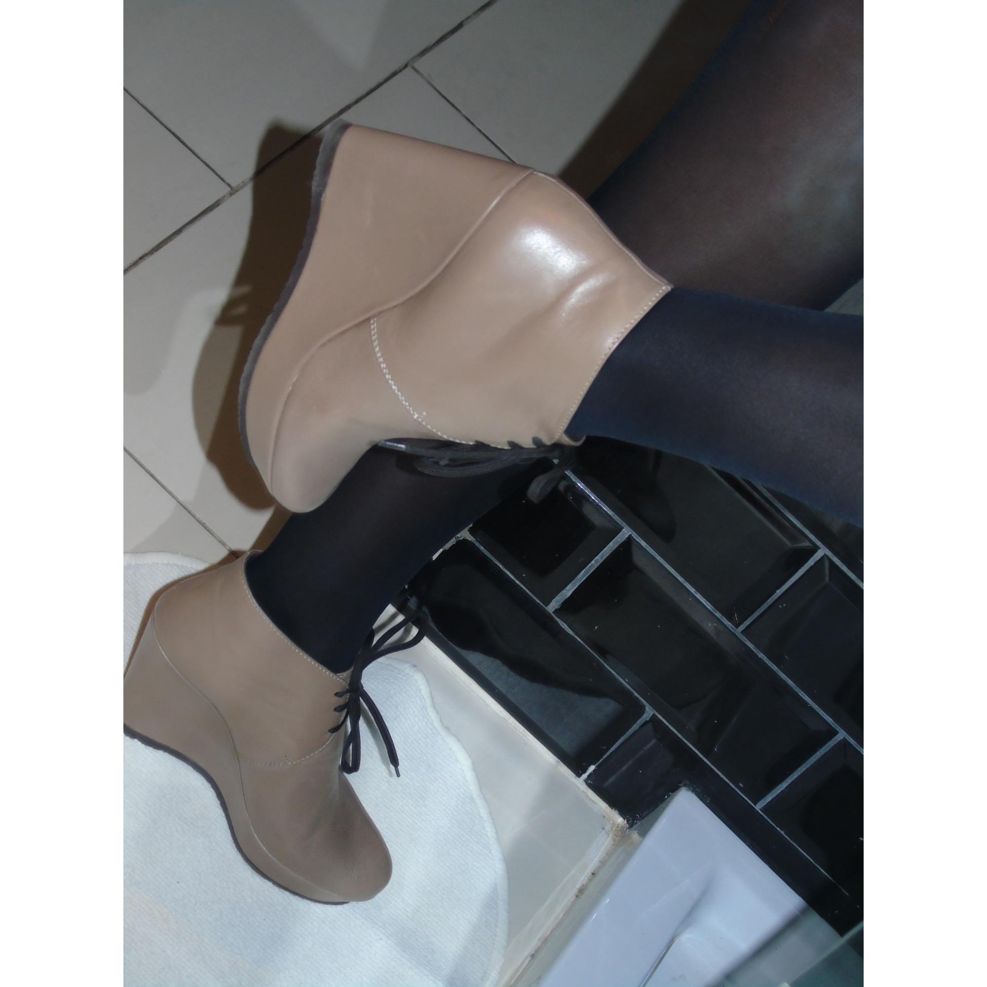 Chaussures à lacets  ENJOY Beige, camel