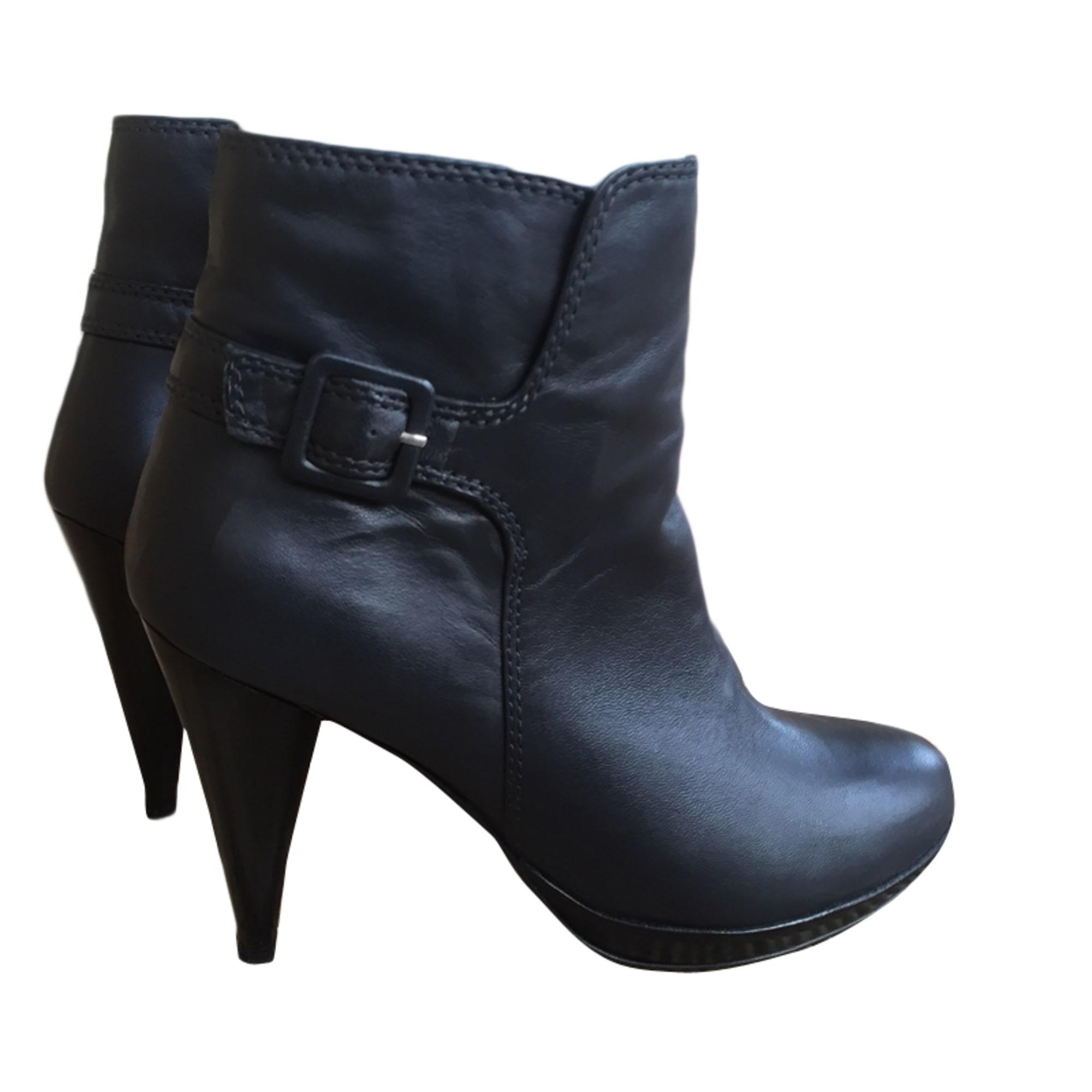 Bottines & low boots à compensés MAJE Noir