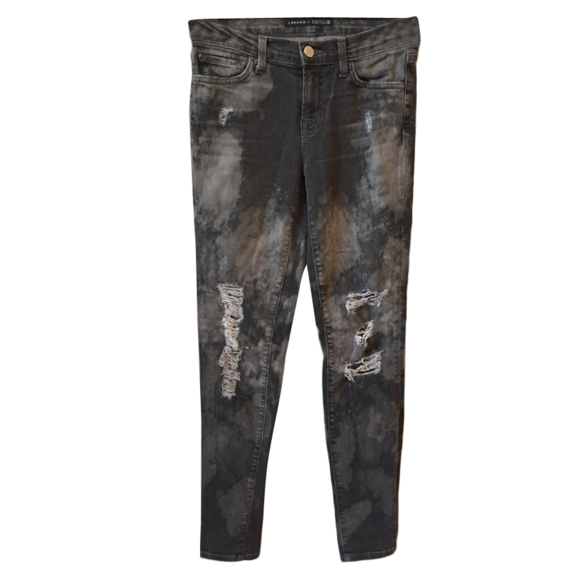 Jeans slim J BRAND Gris, anthracite