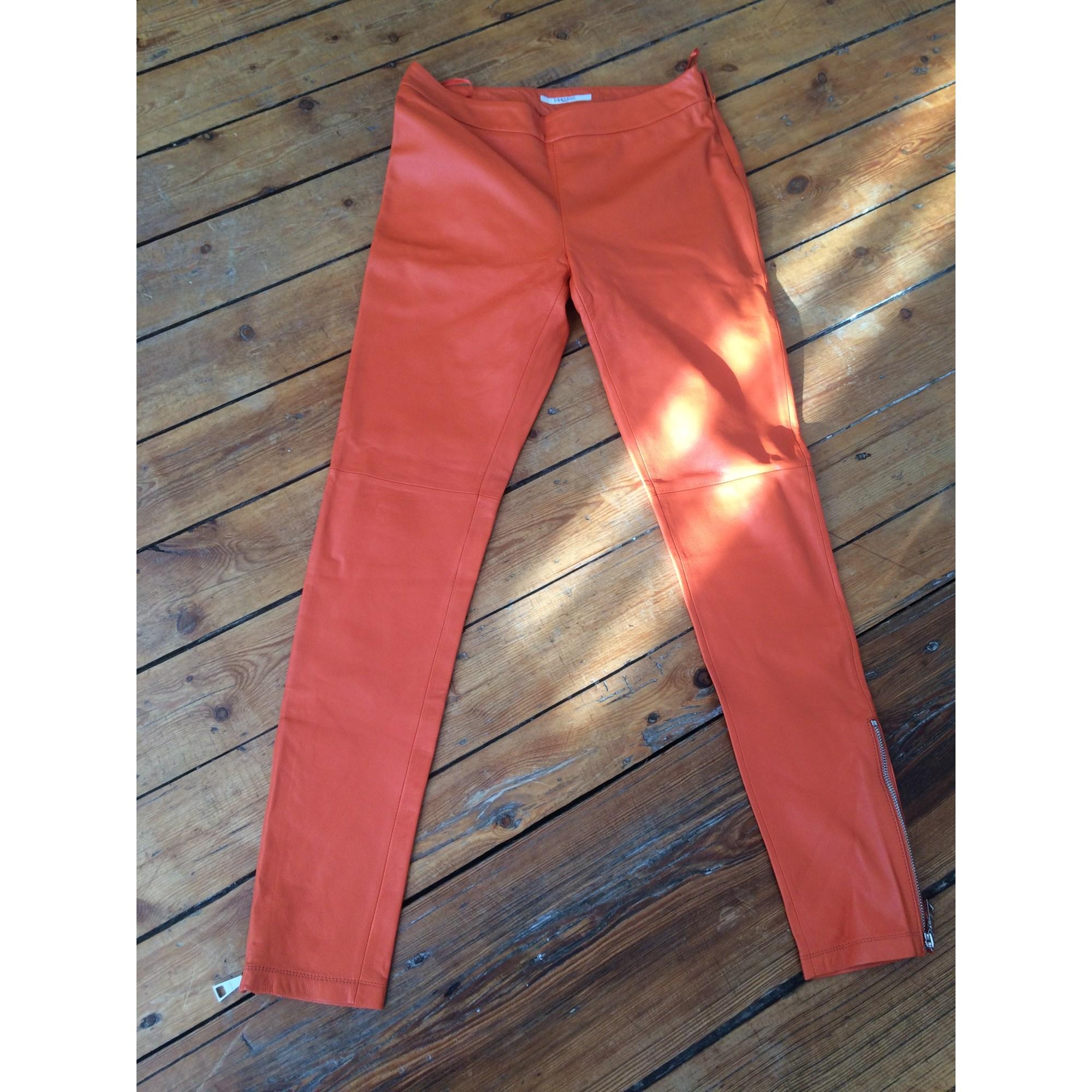Pantalon slim, cigarette VERTIGO Orange