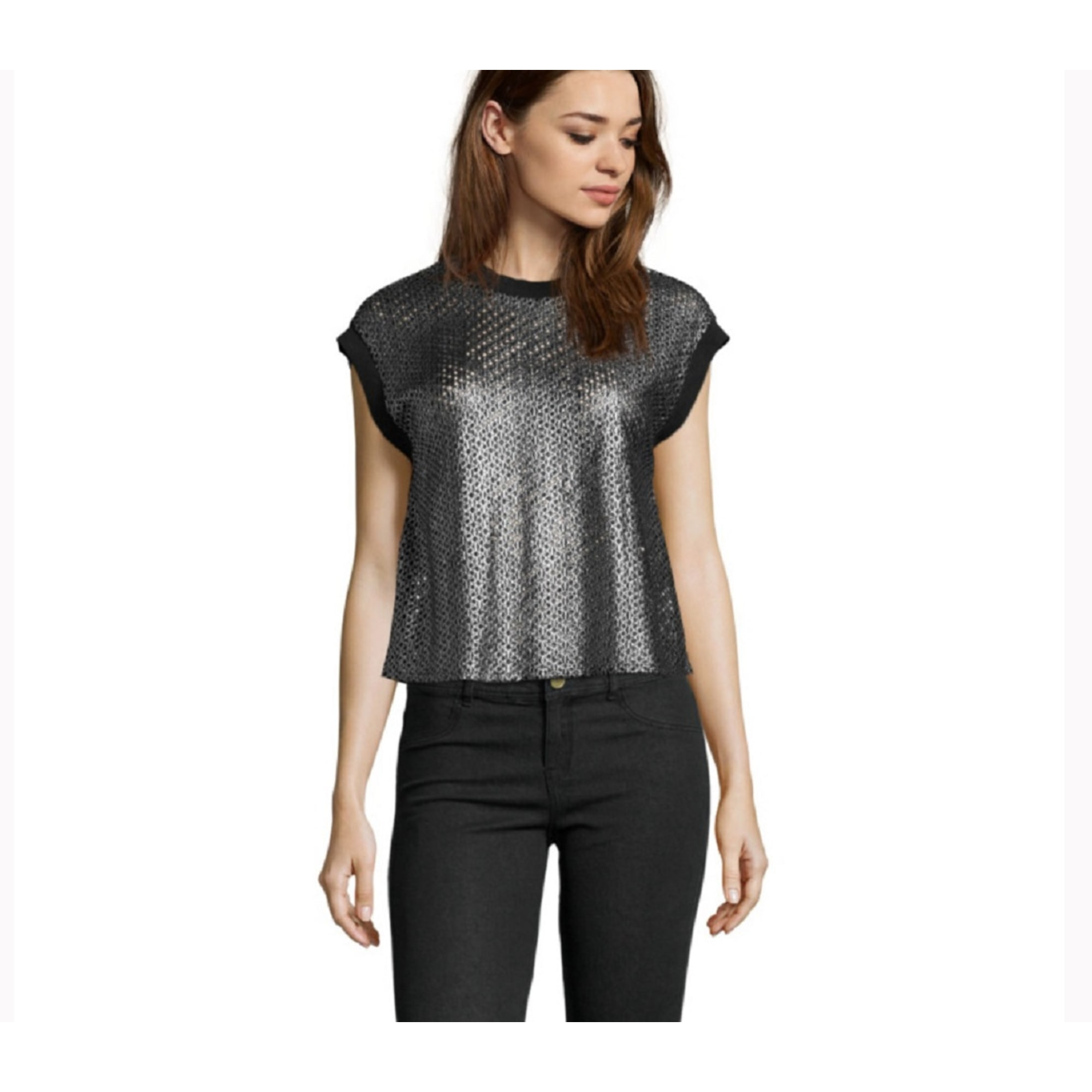 Top, tee-shirt SUITE BLANCO Noir