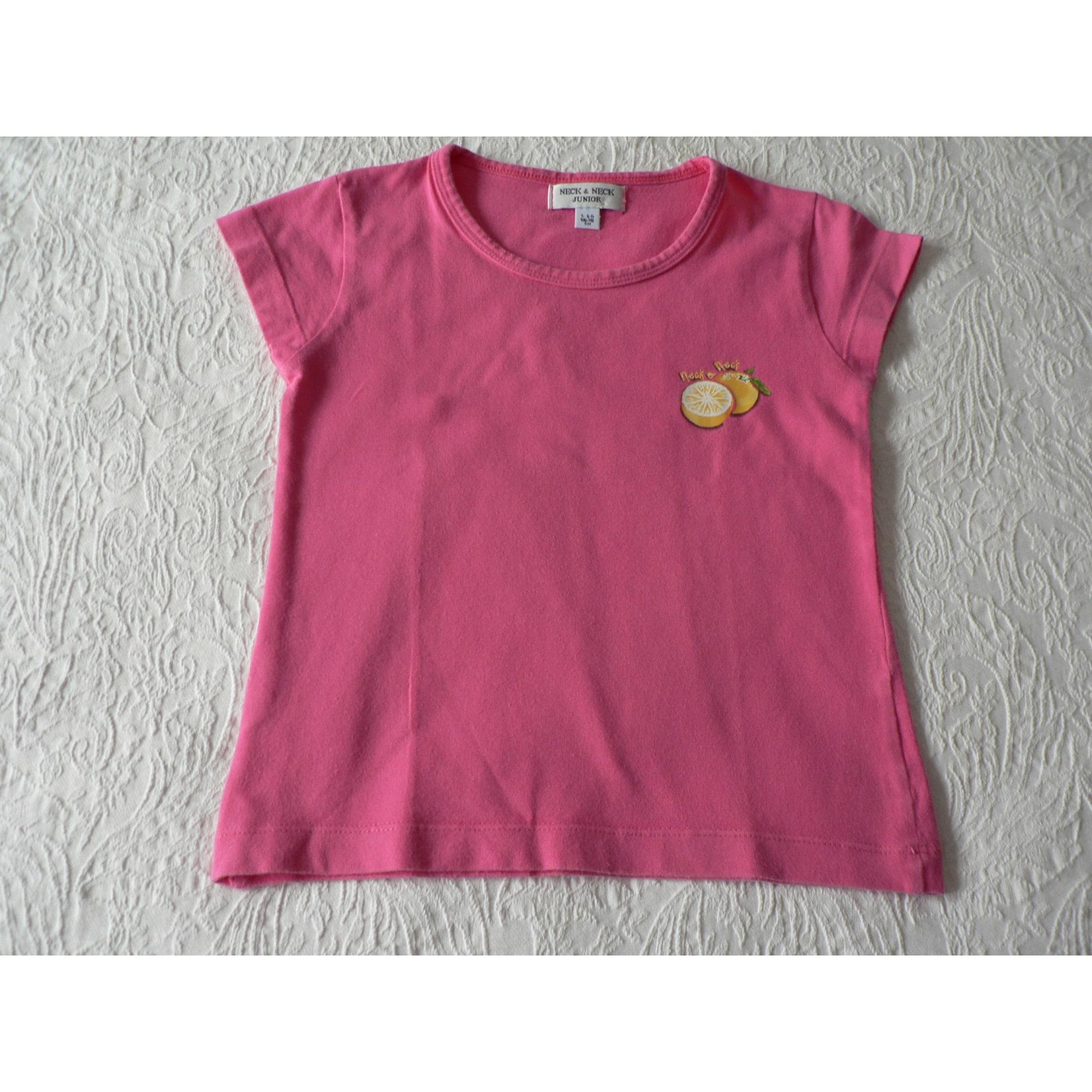 Top, Tee-shirt NECK AND NECK Rose, fuschia, vieux rose