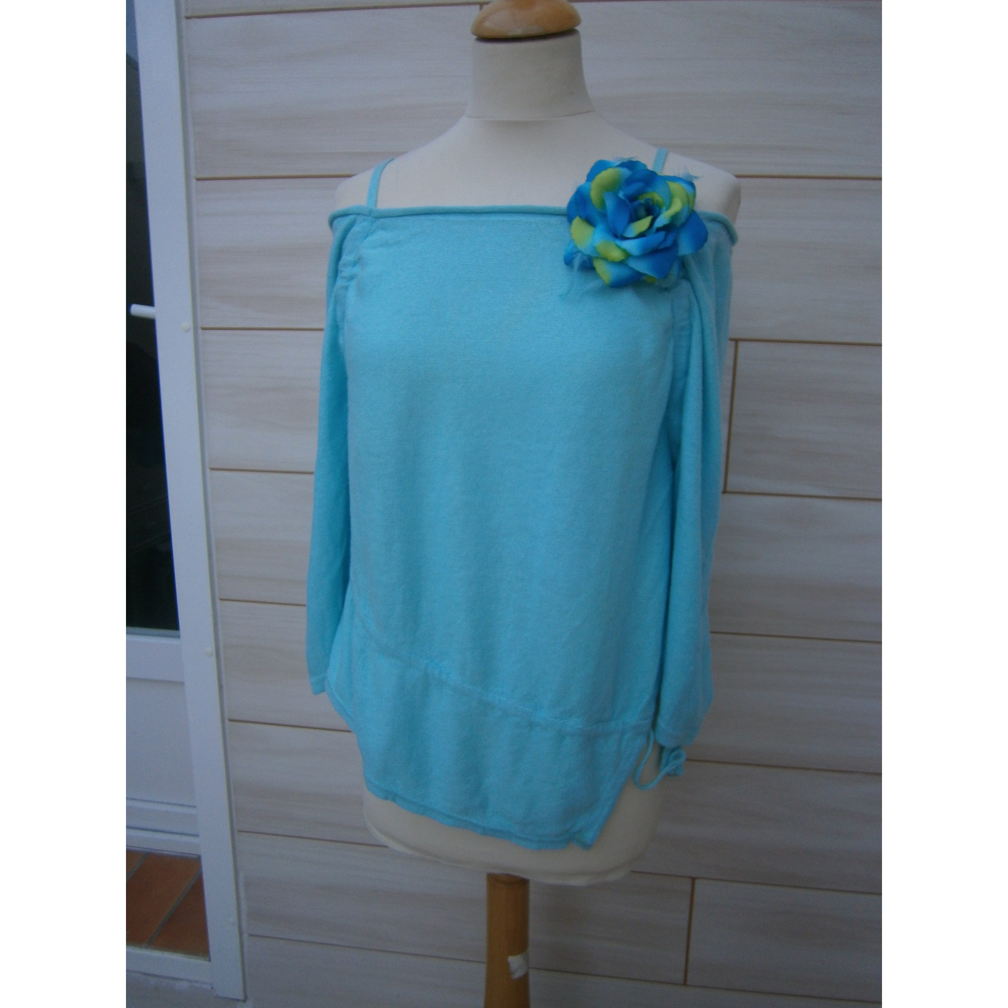 Pull CANNISSE Bleu, bleu marine, bleu turquoise