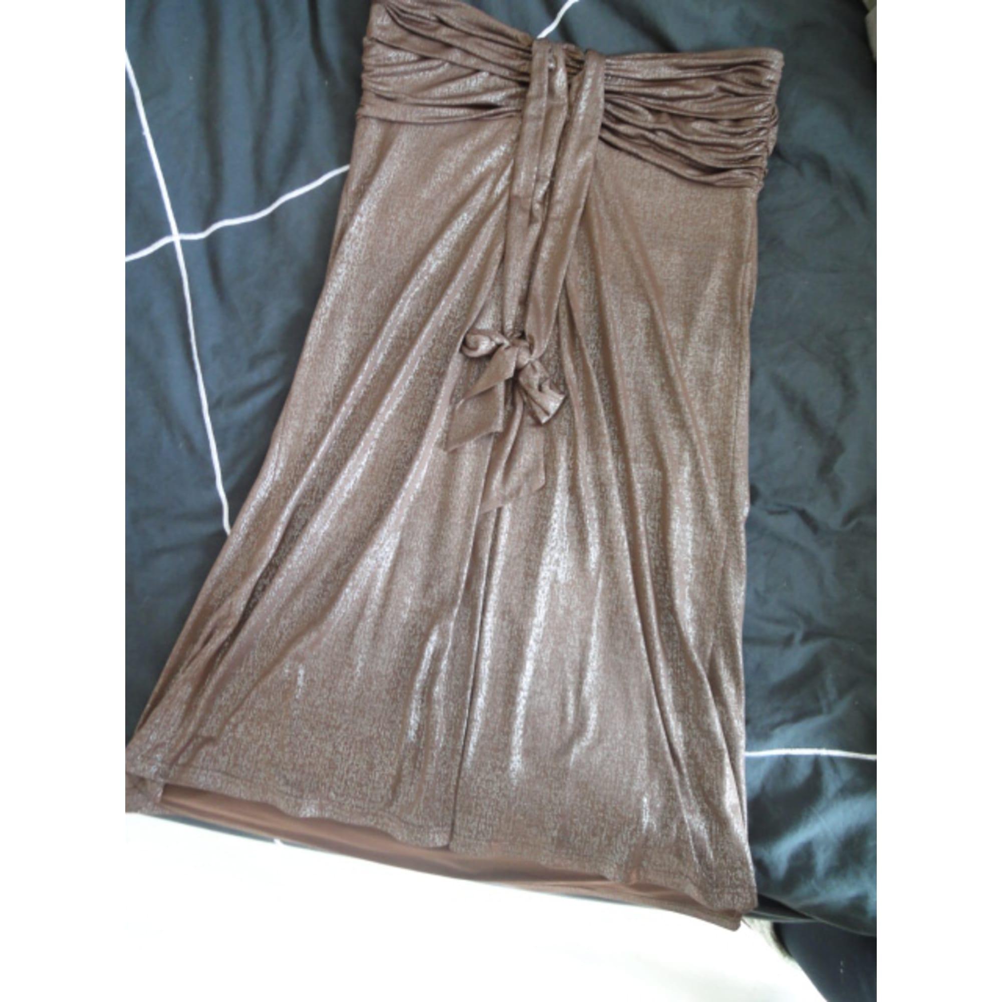 Robe bustier MORGAN Doré, bronze, cuivre