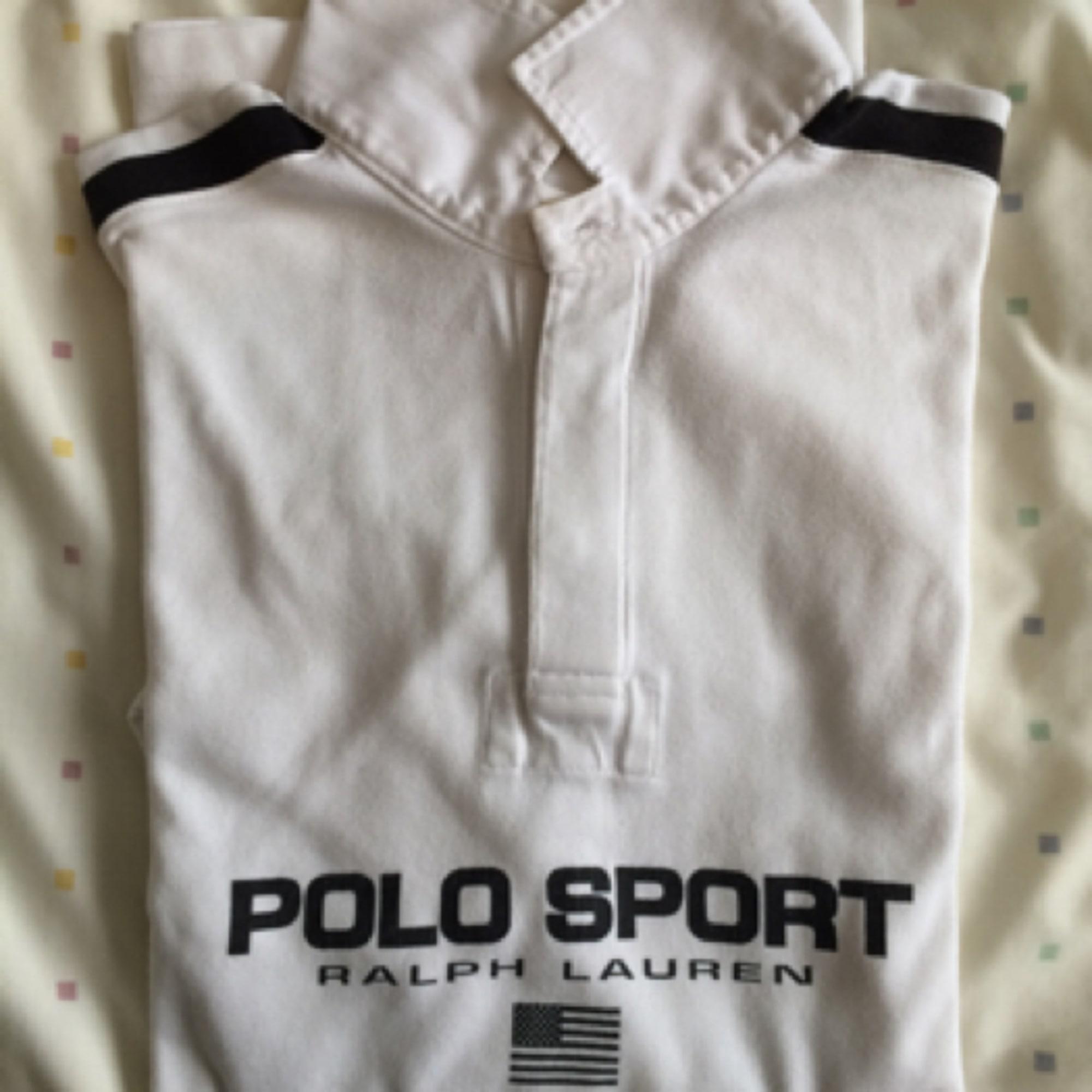 Polo RALPH LAUREN Blanc, blanc cassé, écru