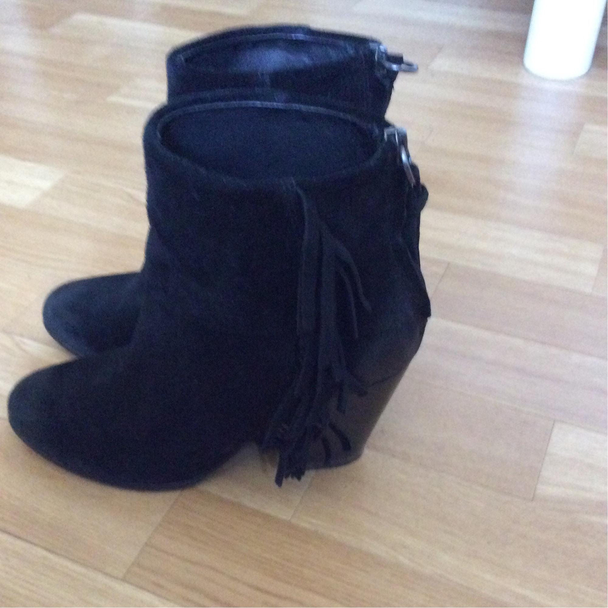 Santiags, bottines, low boots cowboy ASH Noir