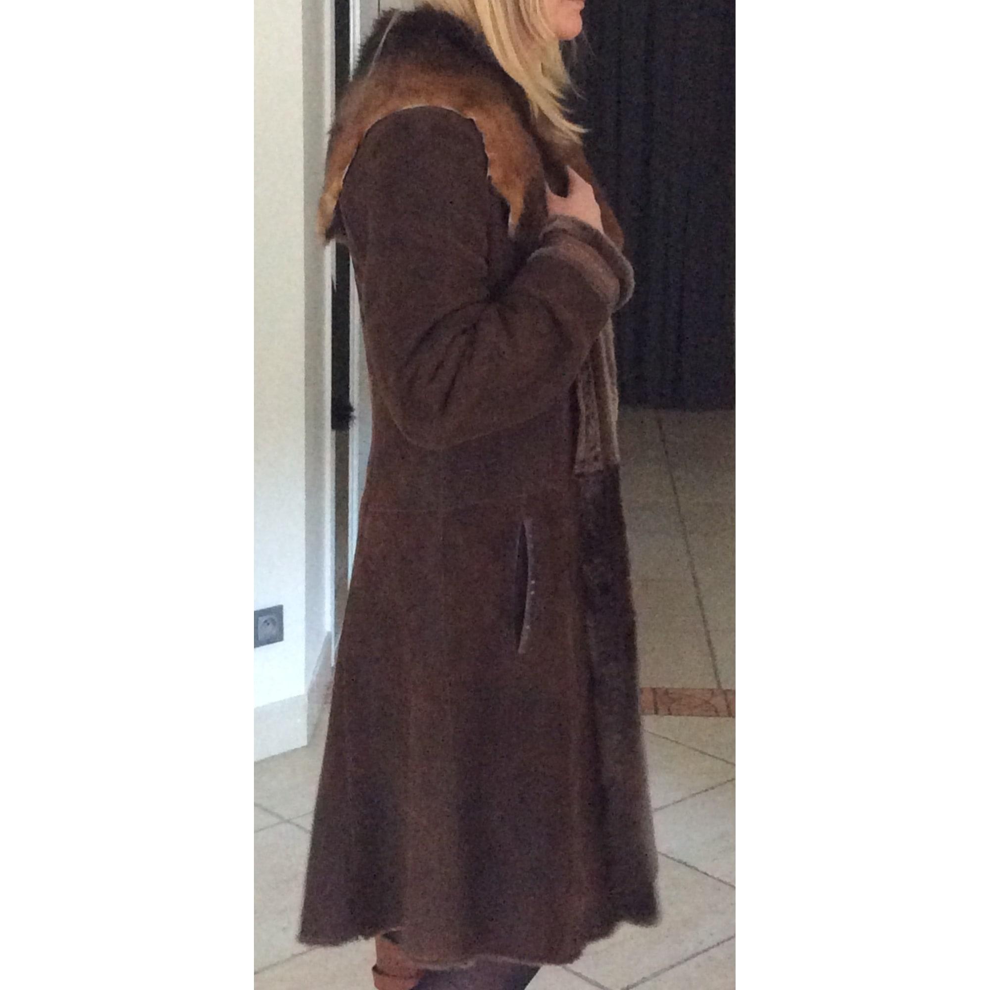 Manteau en fourrure MAC DOUGLAS Marron
