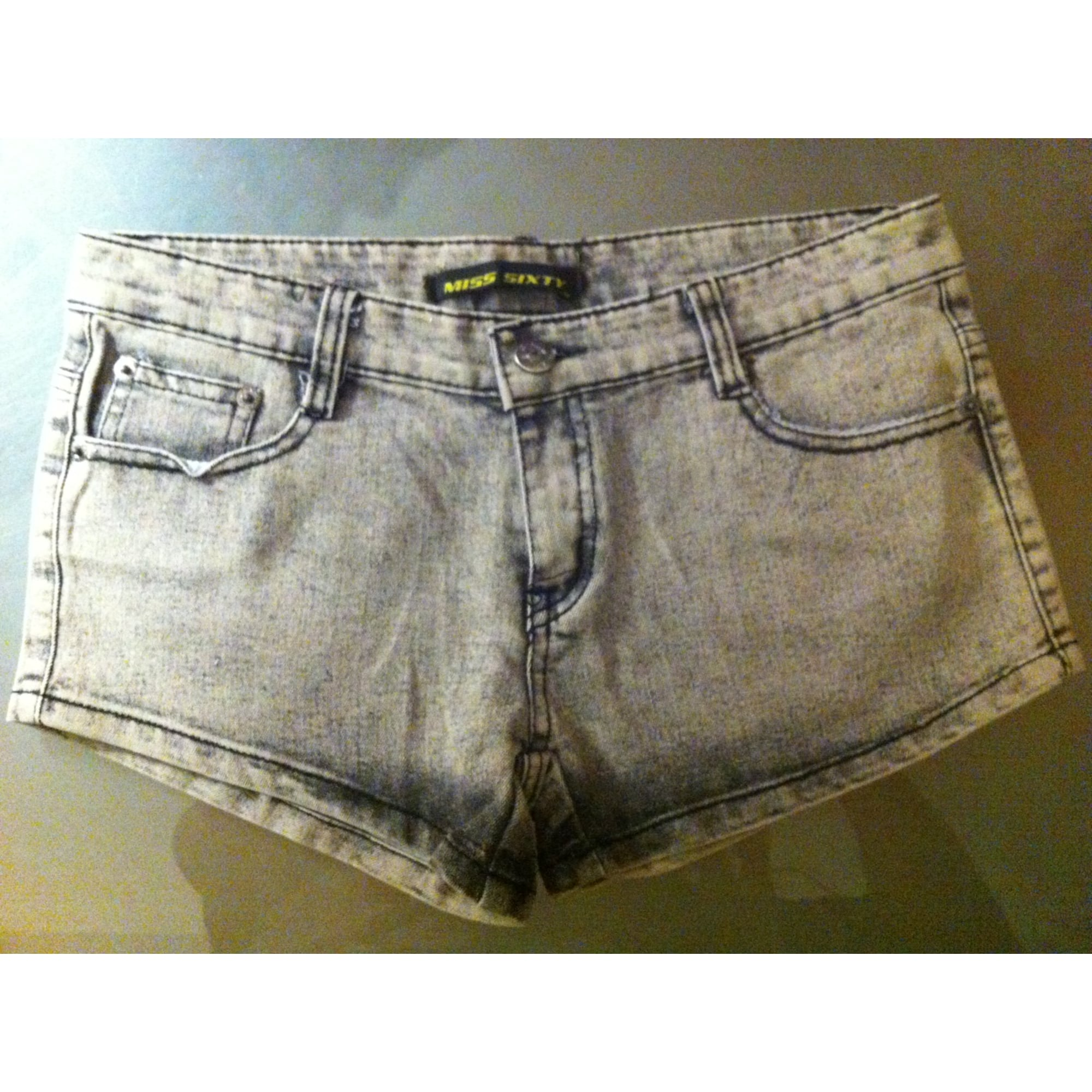 Short en jean MISS SIXTY Gris, anthracite