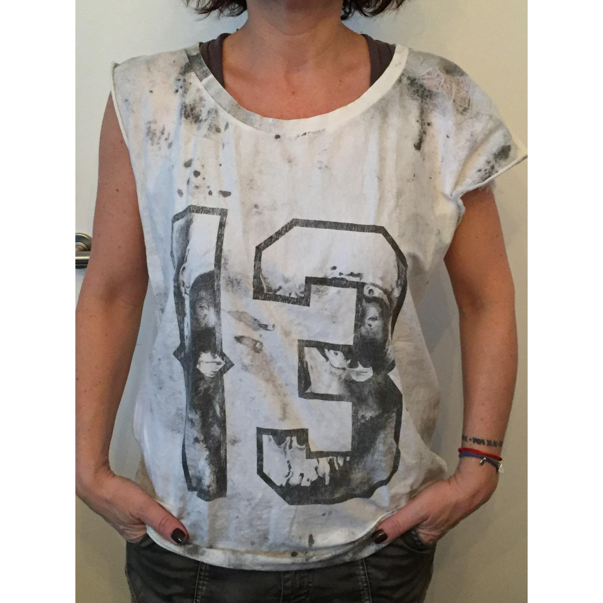 Top, tee-shirt RELIGION Blanc, blanc cassé, écru
