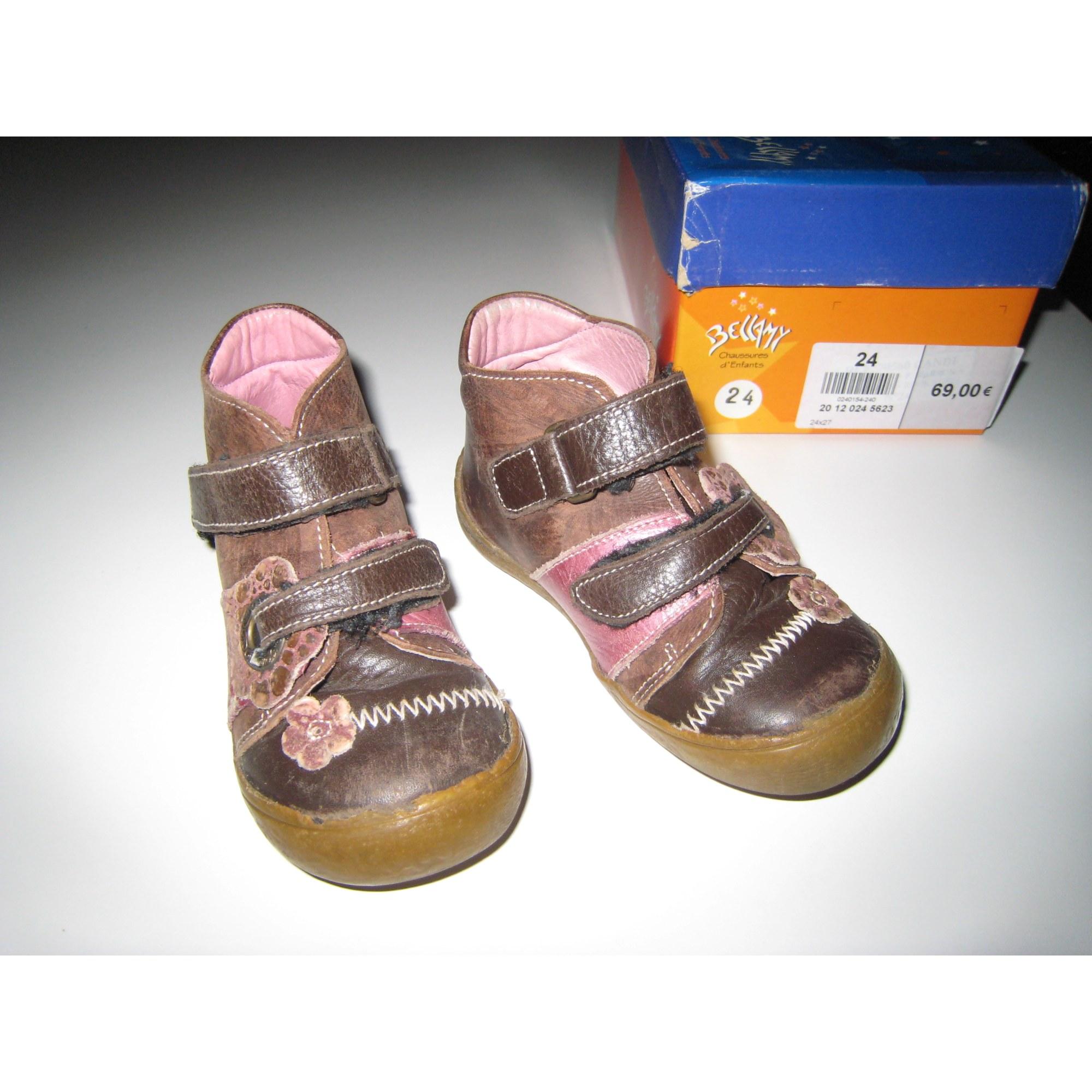 Chaussures à scratch BELLAMY Rose, fuschia, vieux rose