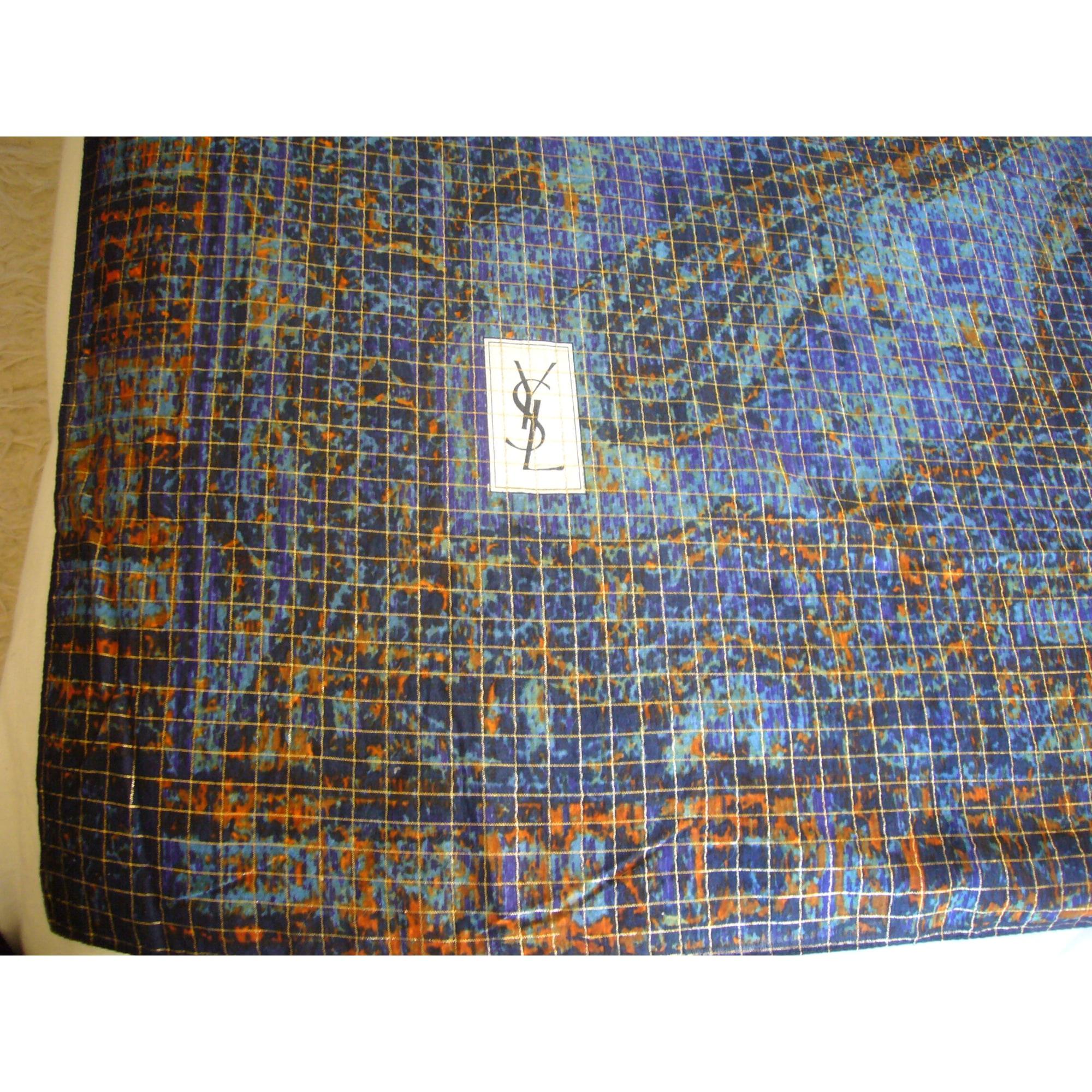 Châle YVES SAINT LAURENT Bleu, bleu marine, bleu turquoise