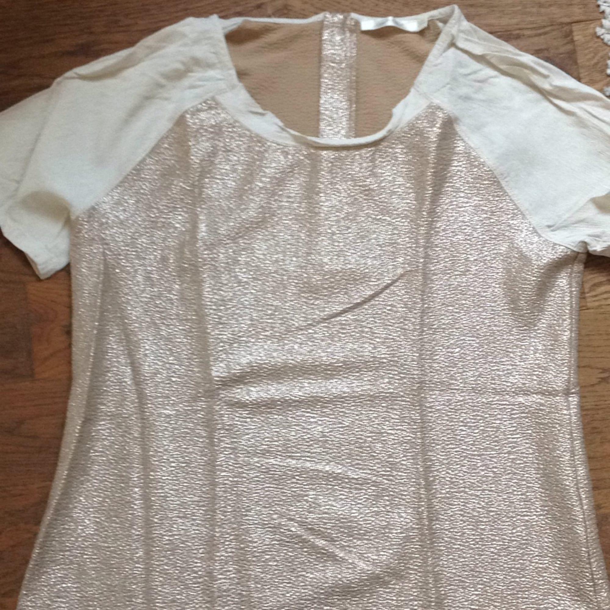 Top, tee-shirt SEE U SOON Doré, bronze, cuivre