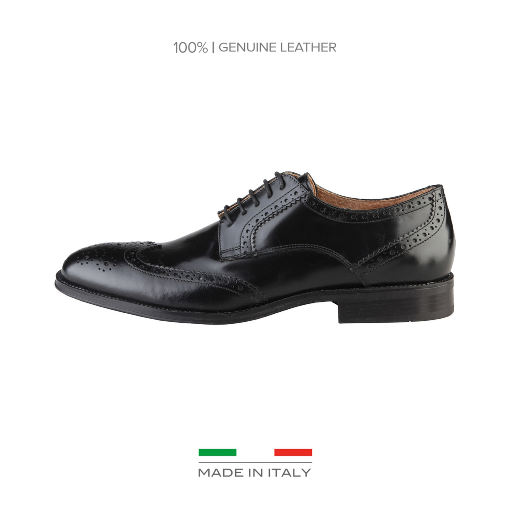 Chaussures à lacets MADE IN ITALIE Noir