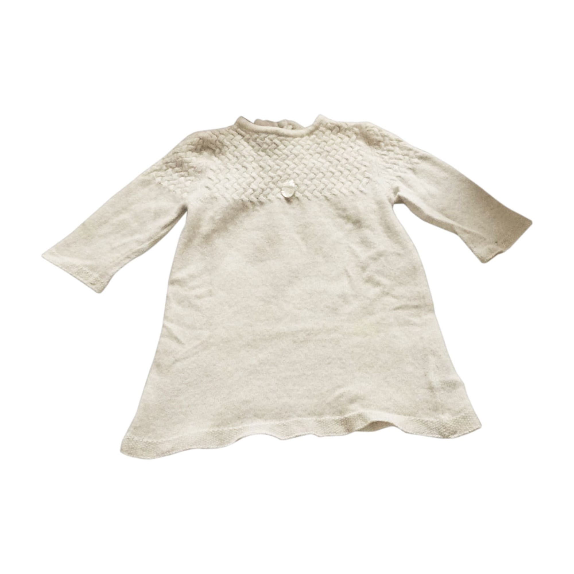 Dress BABY DIOR White, off-white, ecru