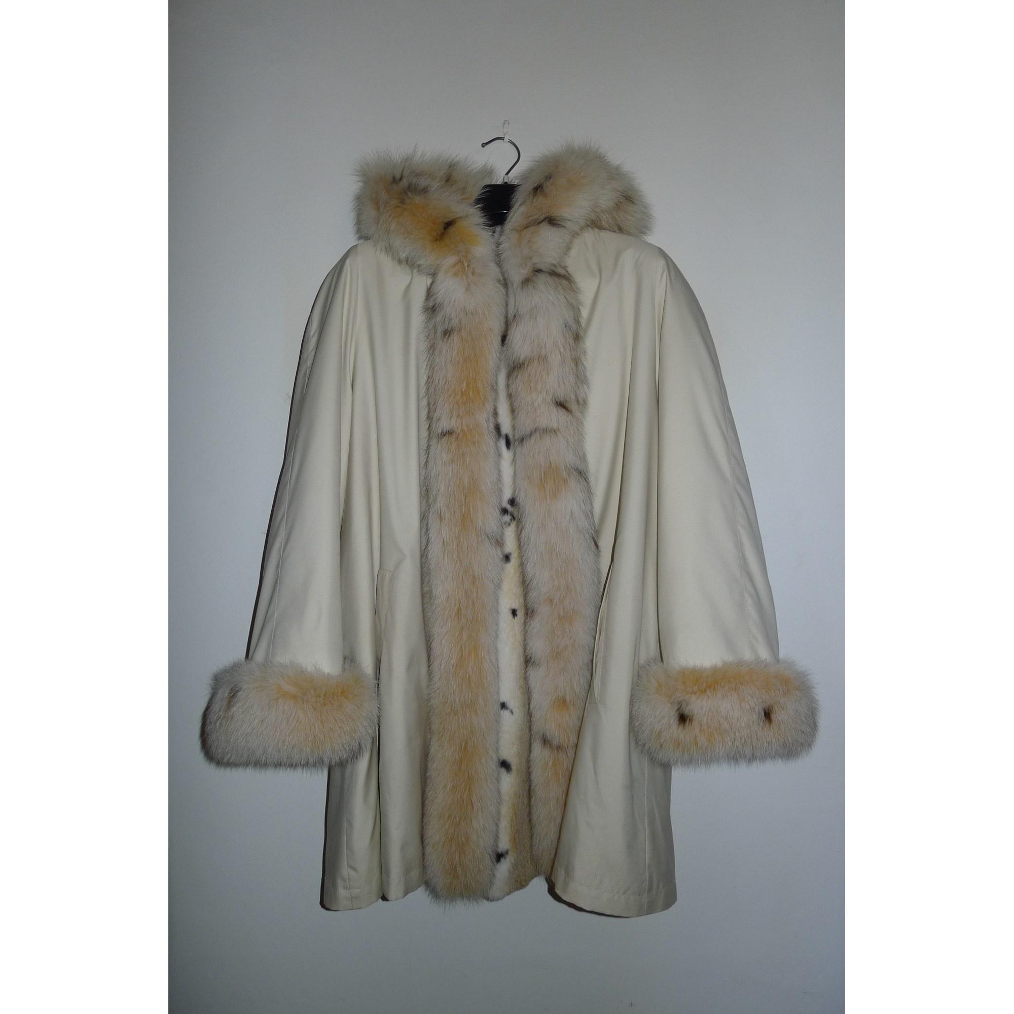 Manteau en fourrure ROLF SCHULTE Blanc, blanc cassé, écru