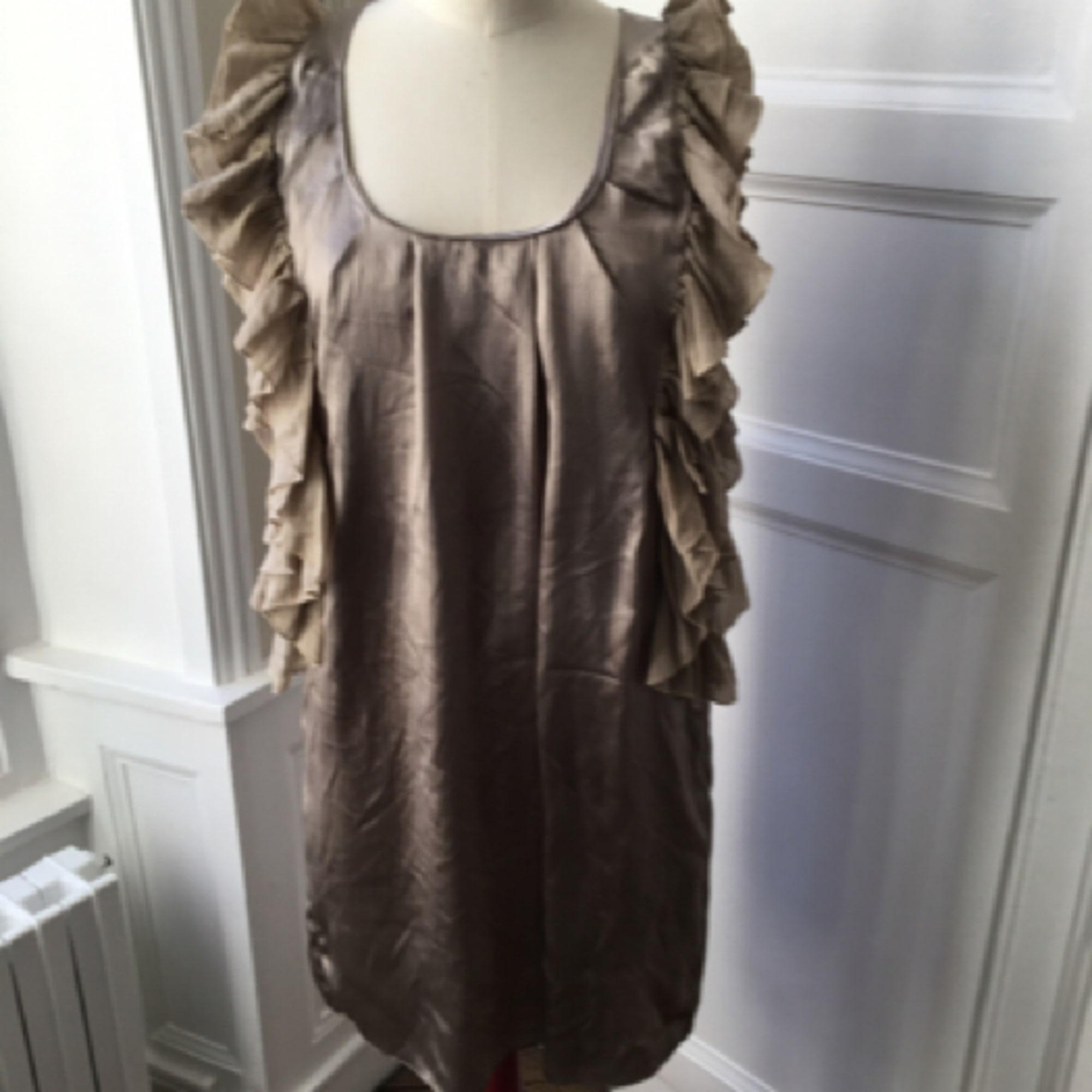 Robe courte JAD Beige, camel