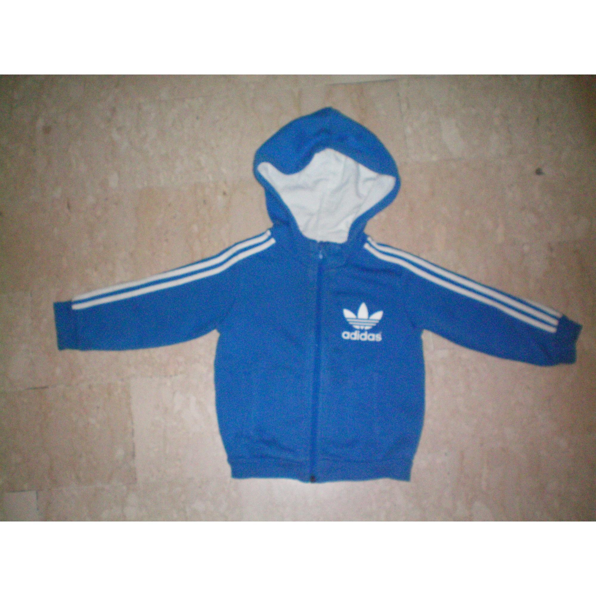 Veste ADIDAS Bleu, bleu marine, bleu turquoise