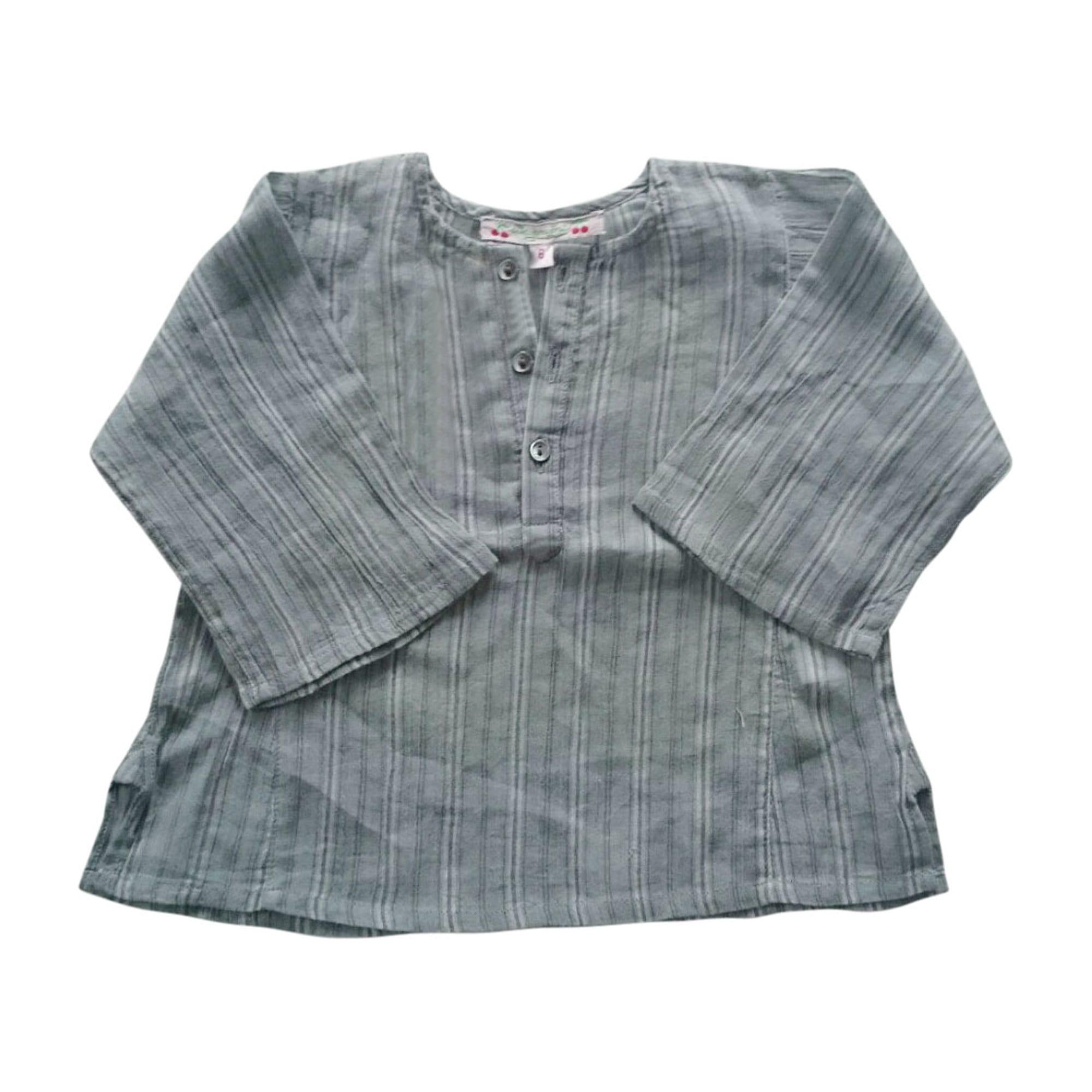 Blouse, Short-sleeved Shirt BONPOINT Blue, navy, turquoise