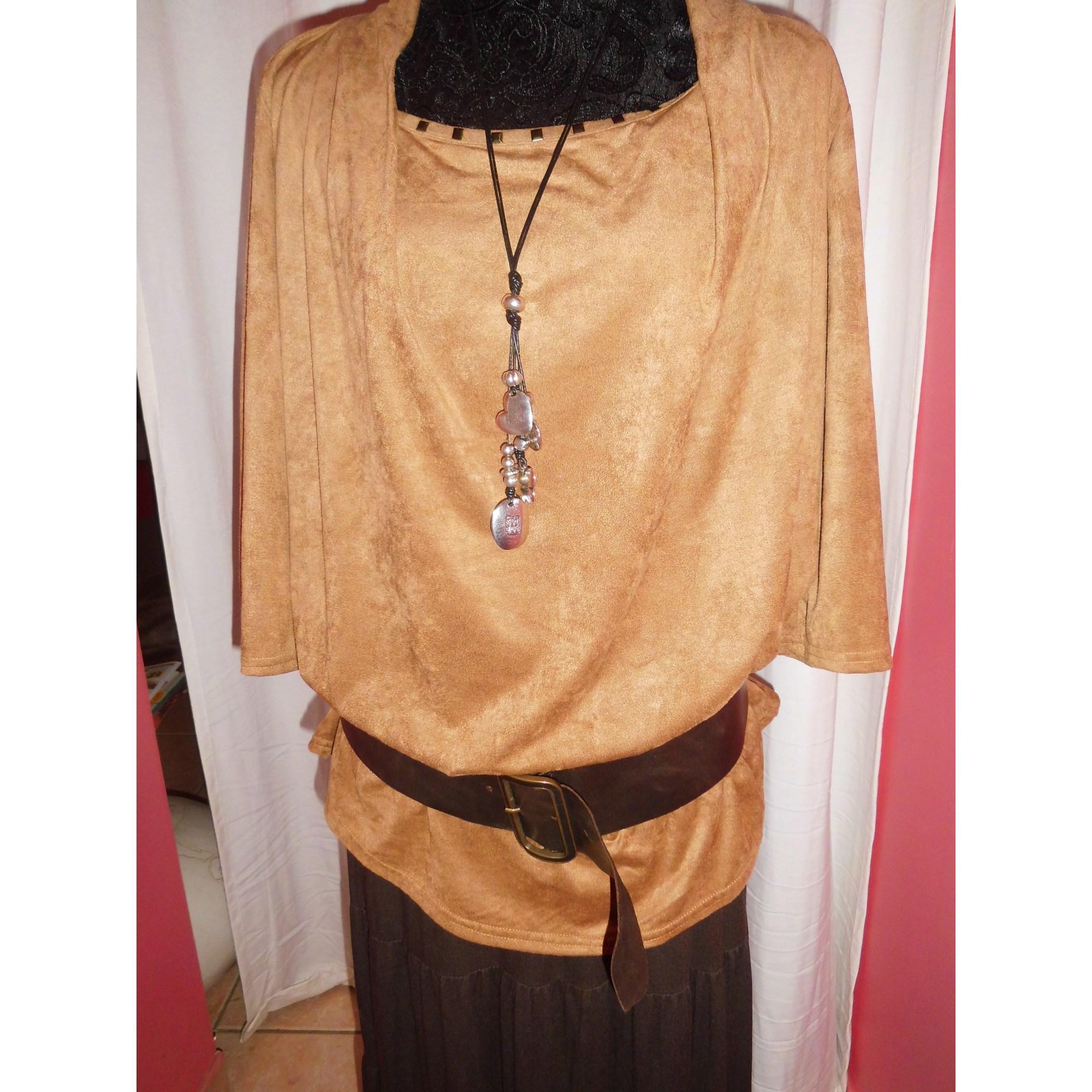 Top, tee-shirt MIM Beige, camel