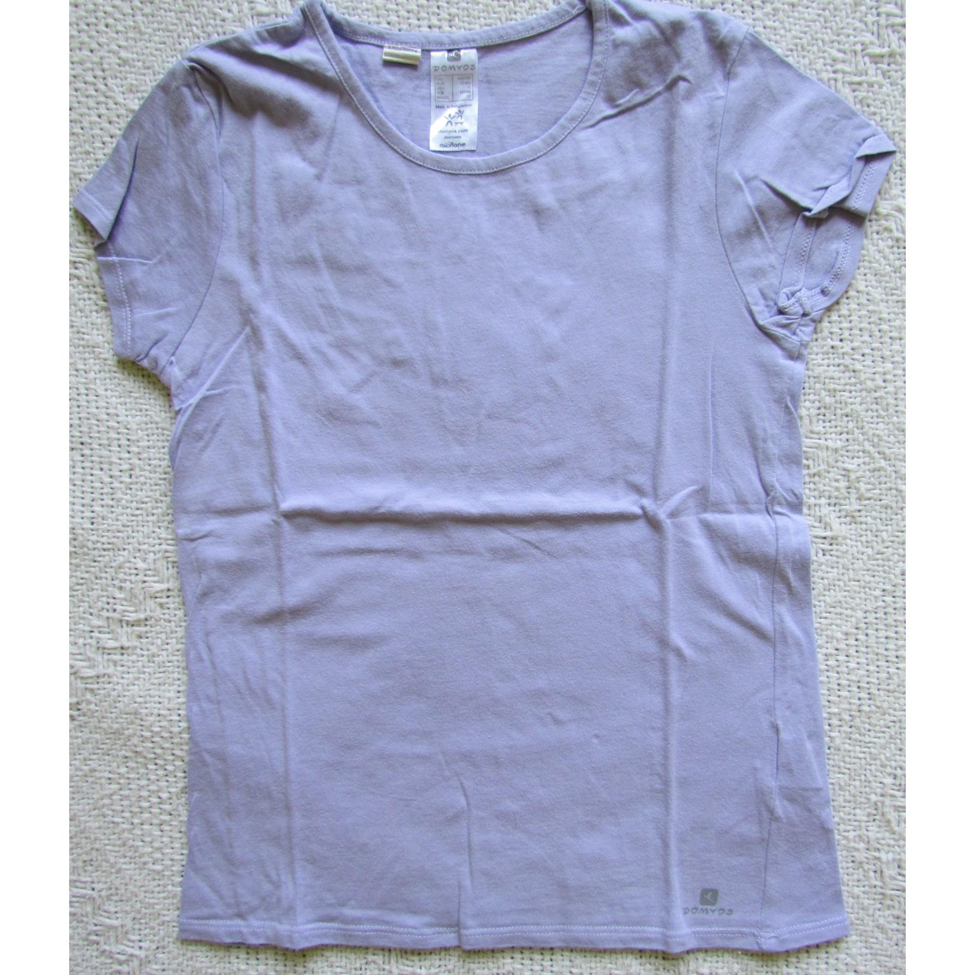 Top, Tee-shirt DOMYOS Violet, mauve, lavande