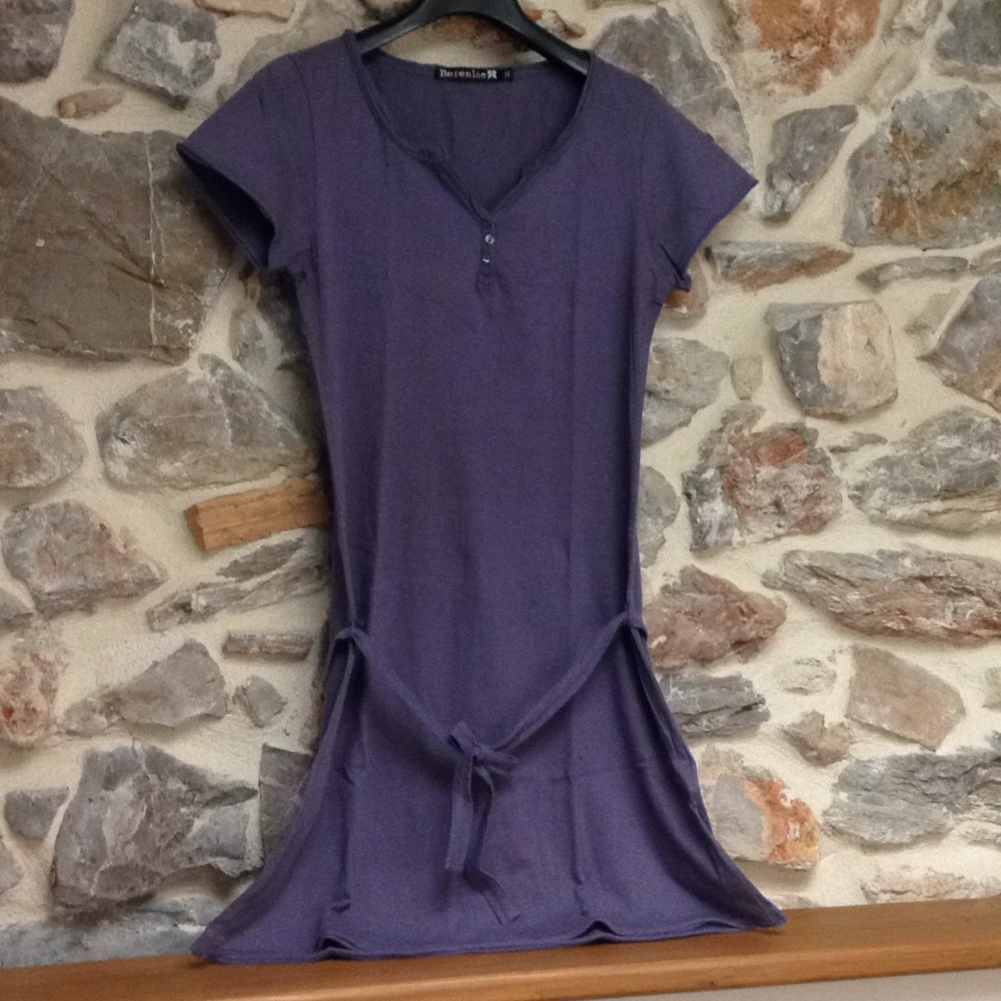 Robe courte BERENICE Violet, mauve, lavande