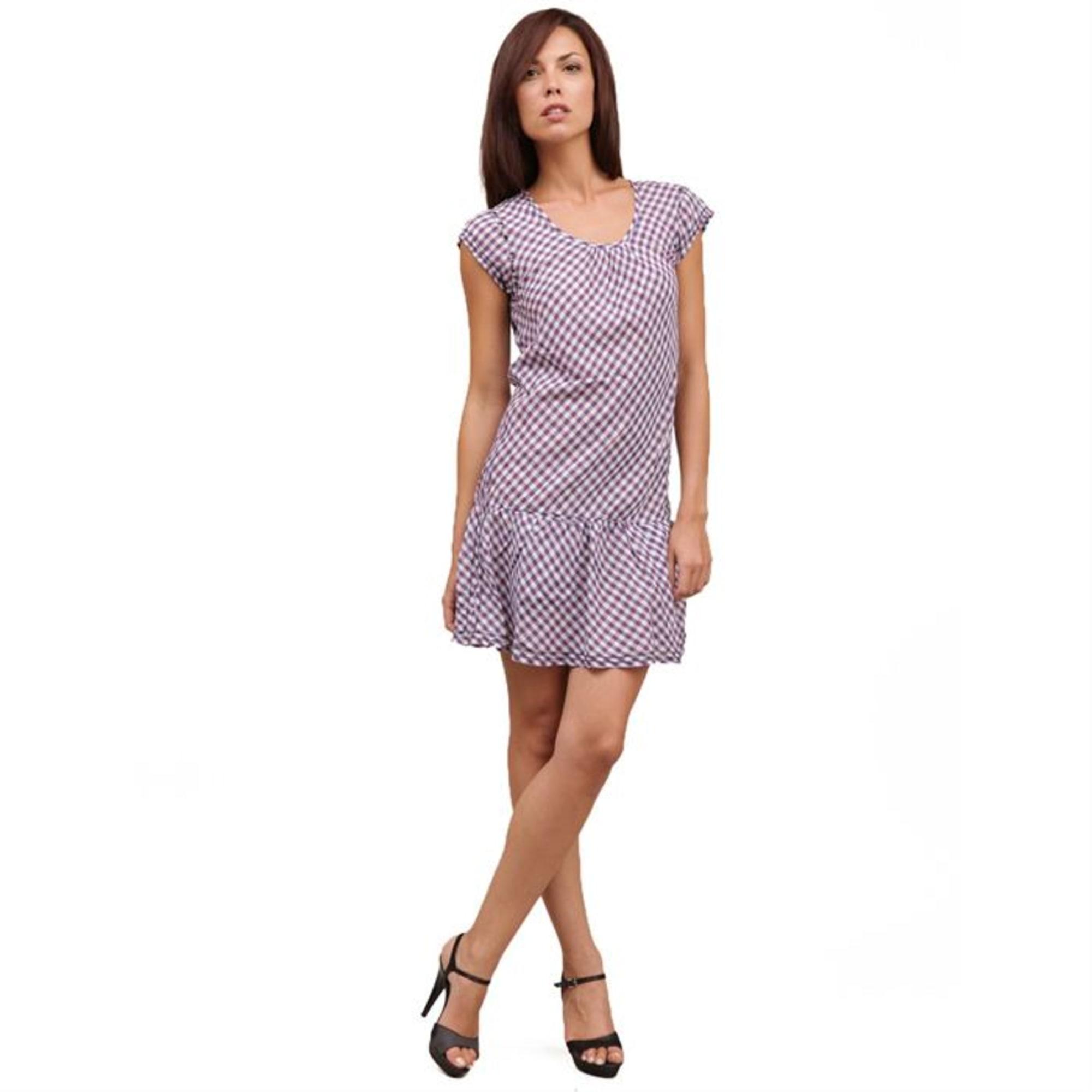 Robe courte LE TEMPS DES CERISES Violet, mauve, lavande